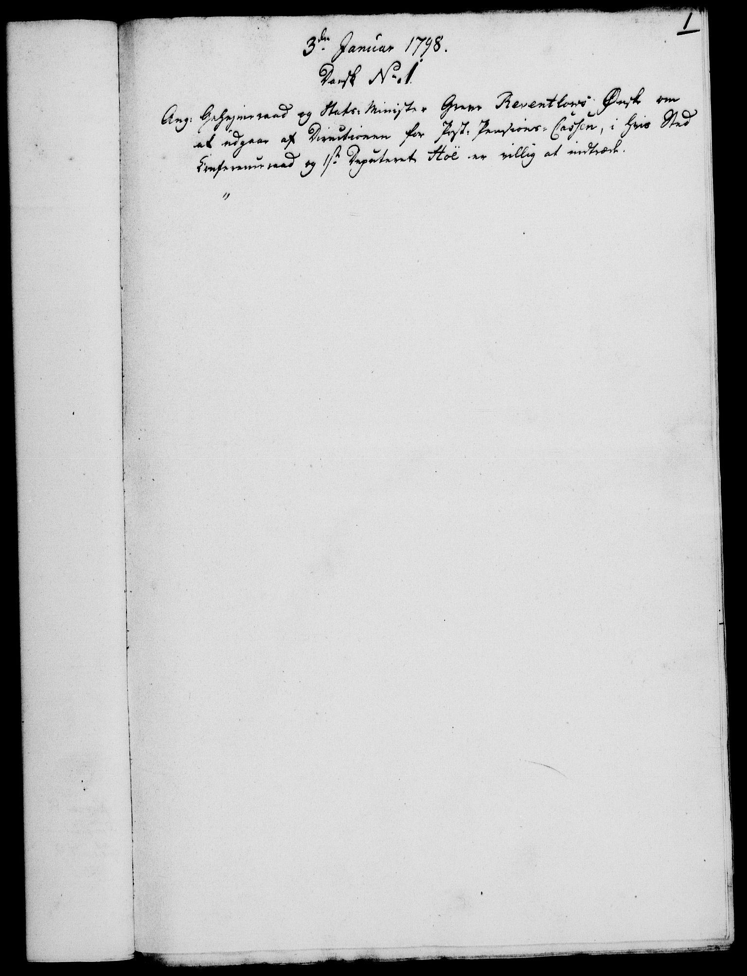 RA, Rentekammeret, Kammerkanselliet, G/Gf/Gfa/L0080: Norsk relasjons- og resolusjonsprotokoll (merket RK 52.80), 1798, s. 27