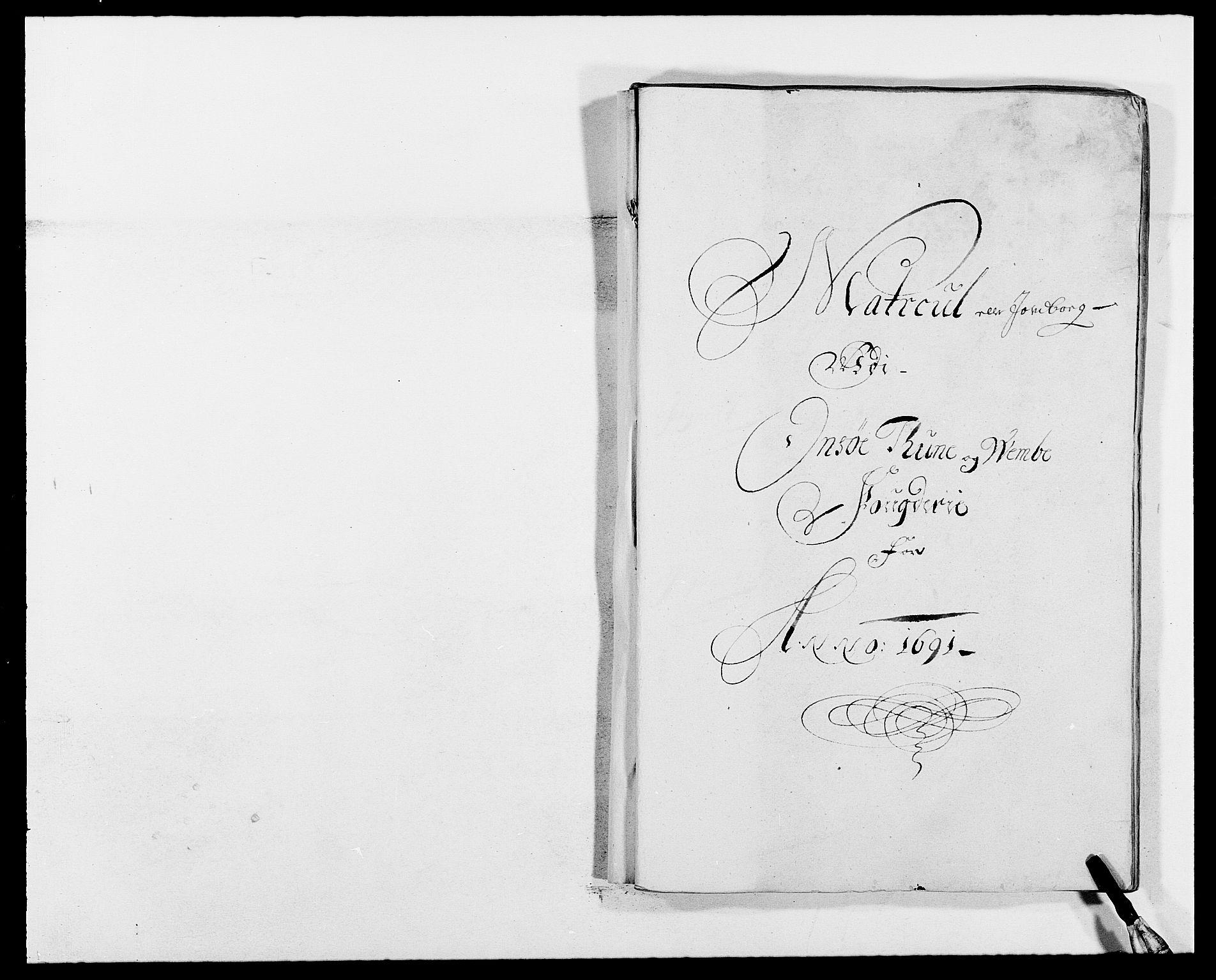 RA, Rentekammeret inntil 1814, Reviderte regnskaper, Fogderegnskap, R03/L0119: Fogderegnskap Onsøy, Tune, Veme og Åbygge fogderi, 1690-1691, s. 290