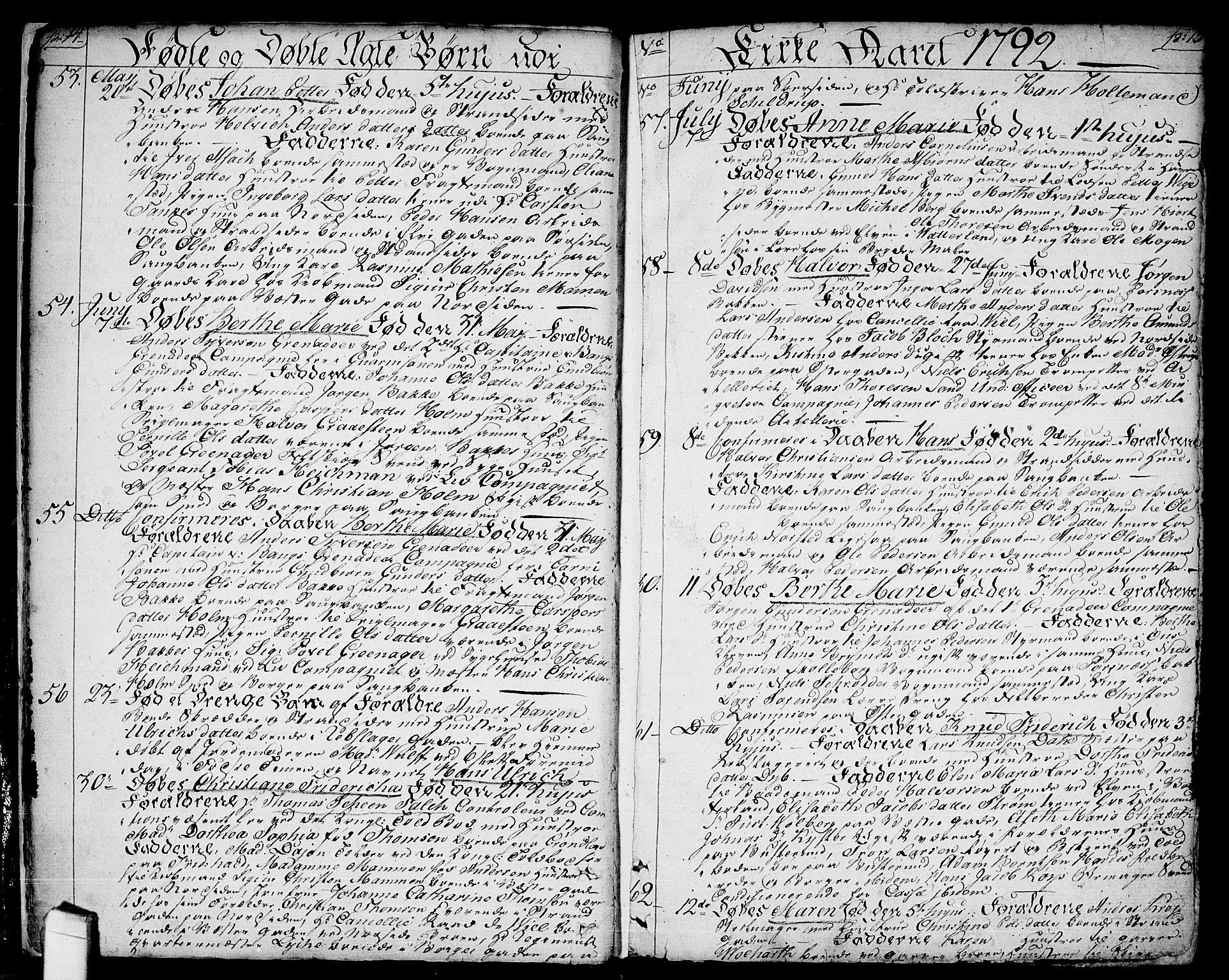 SAO, Halden prestekontor Kirkebøker, F/Fa/L0002: Ministerialbok nr. I 2, 1792-1812, s. 14-15