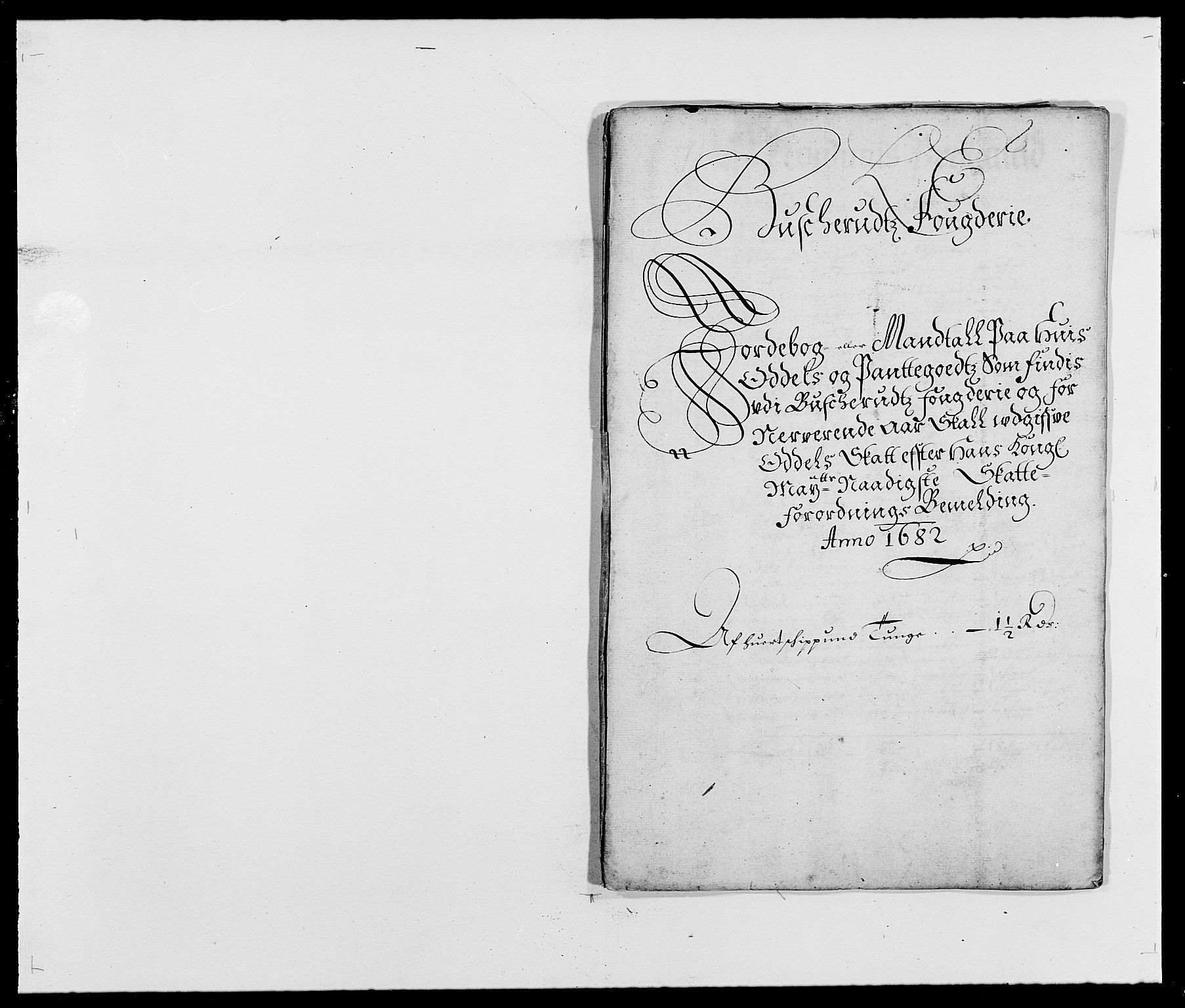 RA, Rentekammeret inntil 1814, Reviderte regnskaper, Fogderegnskap, R25/L1676: Fogderegnskap Buskerud, 1682, s. 85