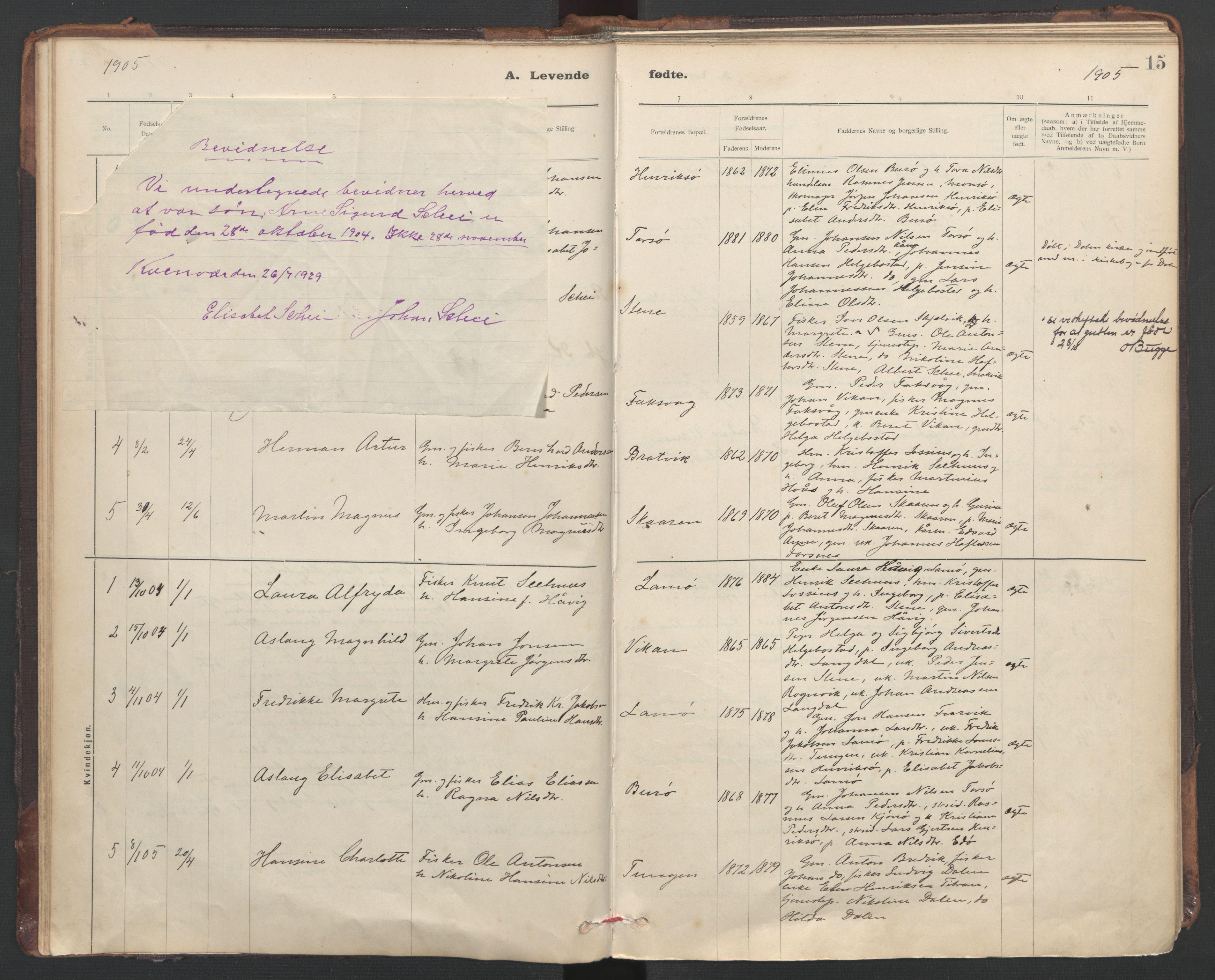 SAT, Ministerialprotokoller, klokkerbøker og fødselsregistre - Sør-Trøndelag, 635/L0552: Ministerialbok nr. 635A02, 1899-1919, s. 15