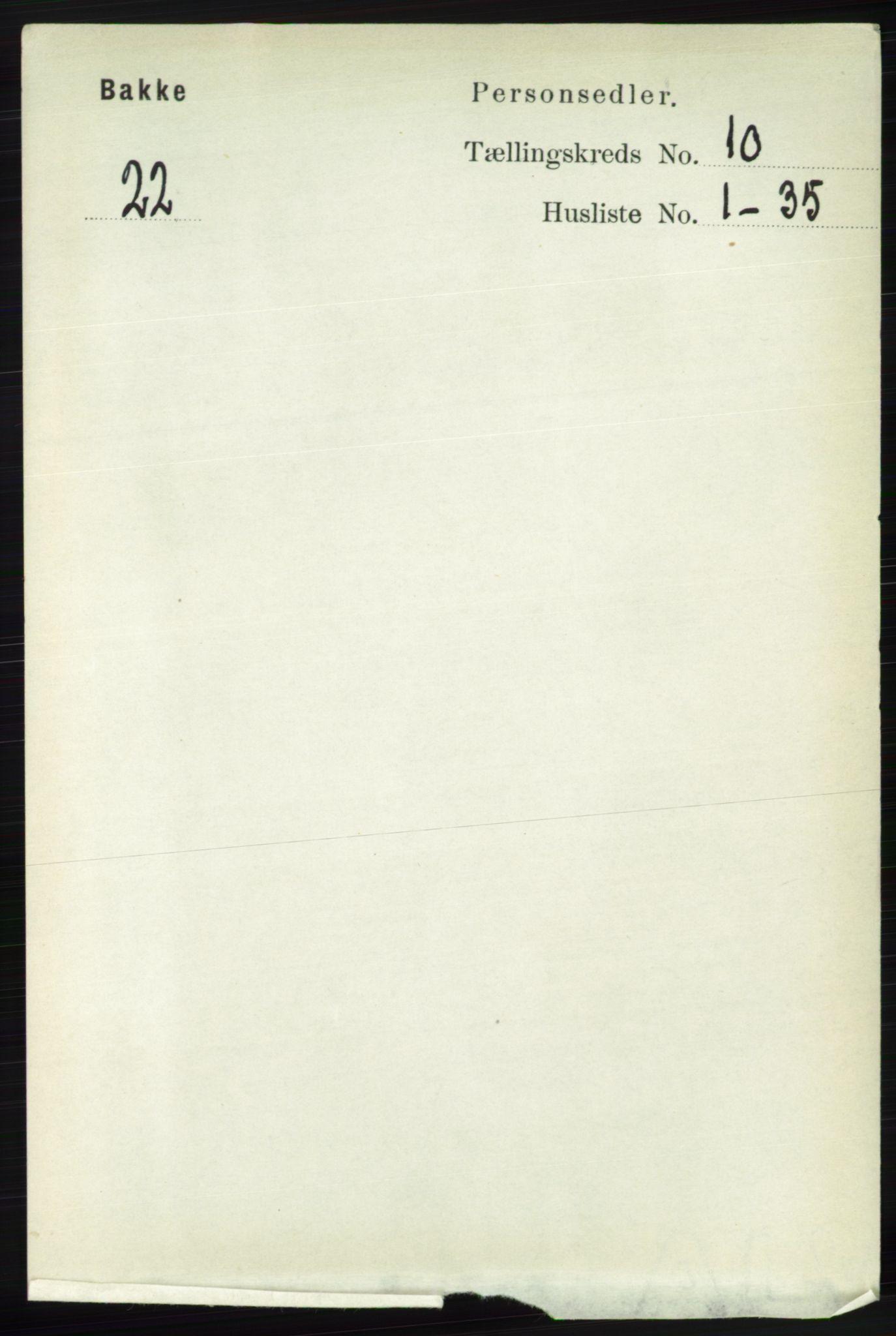 RA, Folketelling 1891 for 1045 Bakke herred, 1891, s. 2001