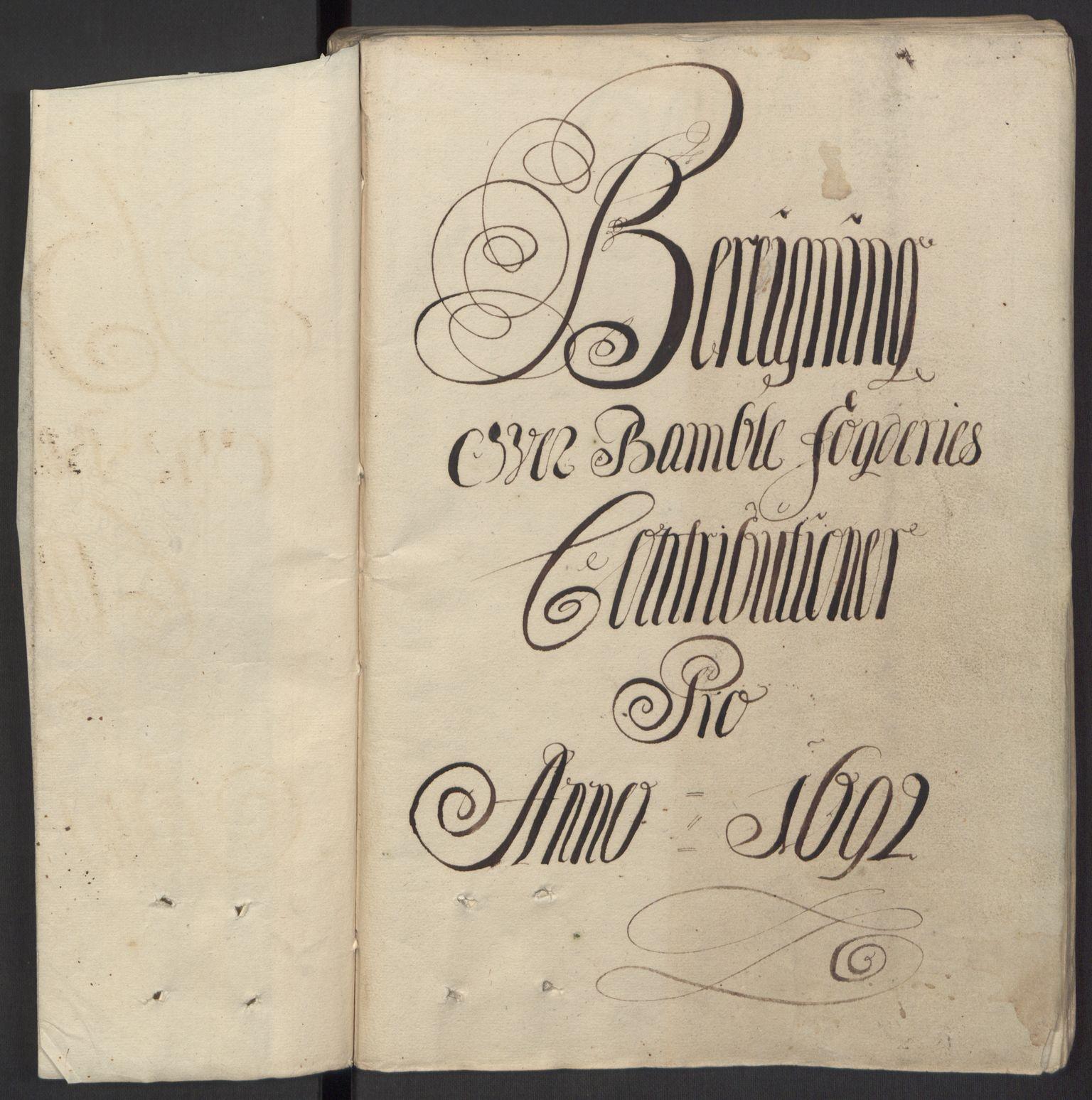 RA, Rentekammeret inntil 1814, Reviderte regnskaper, Fogderegnskap, R34/L2052: Fogderegnskap Bamble, 1692-1693, s. 63