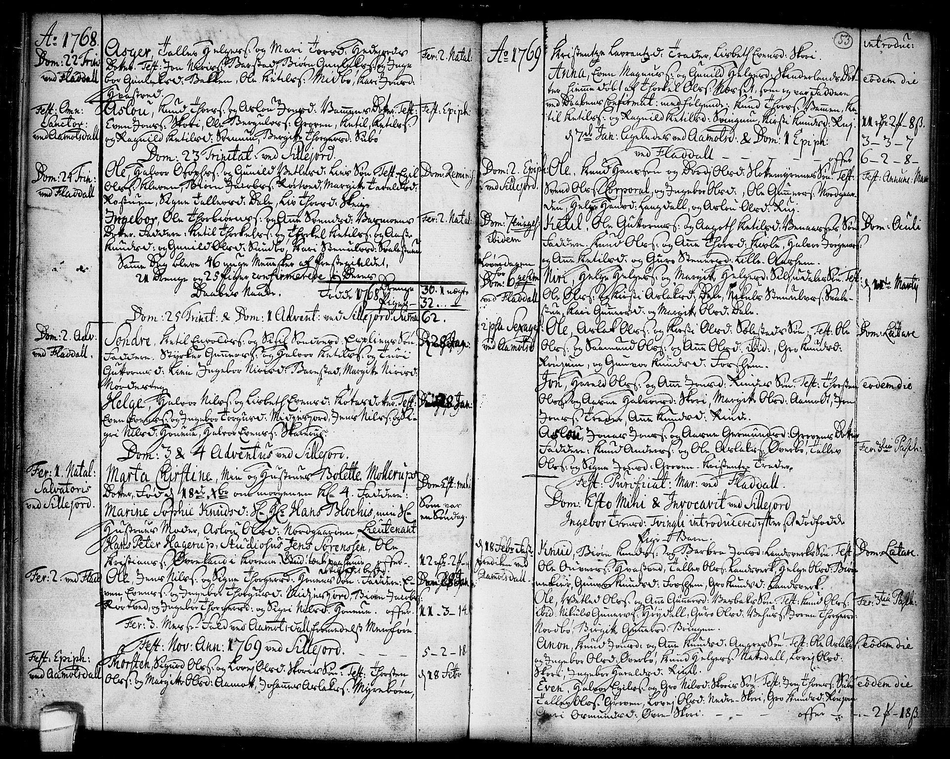 SAKO, Seljord kirkebøker, F/Fa/L0007: Ministerialbok nr. I 7, 1755-1800, s. 53
