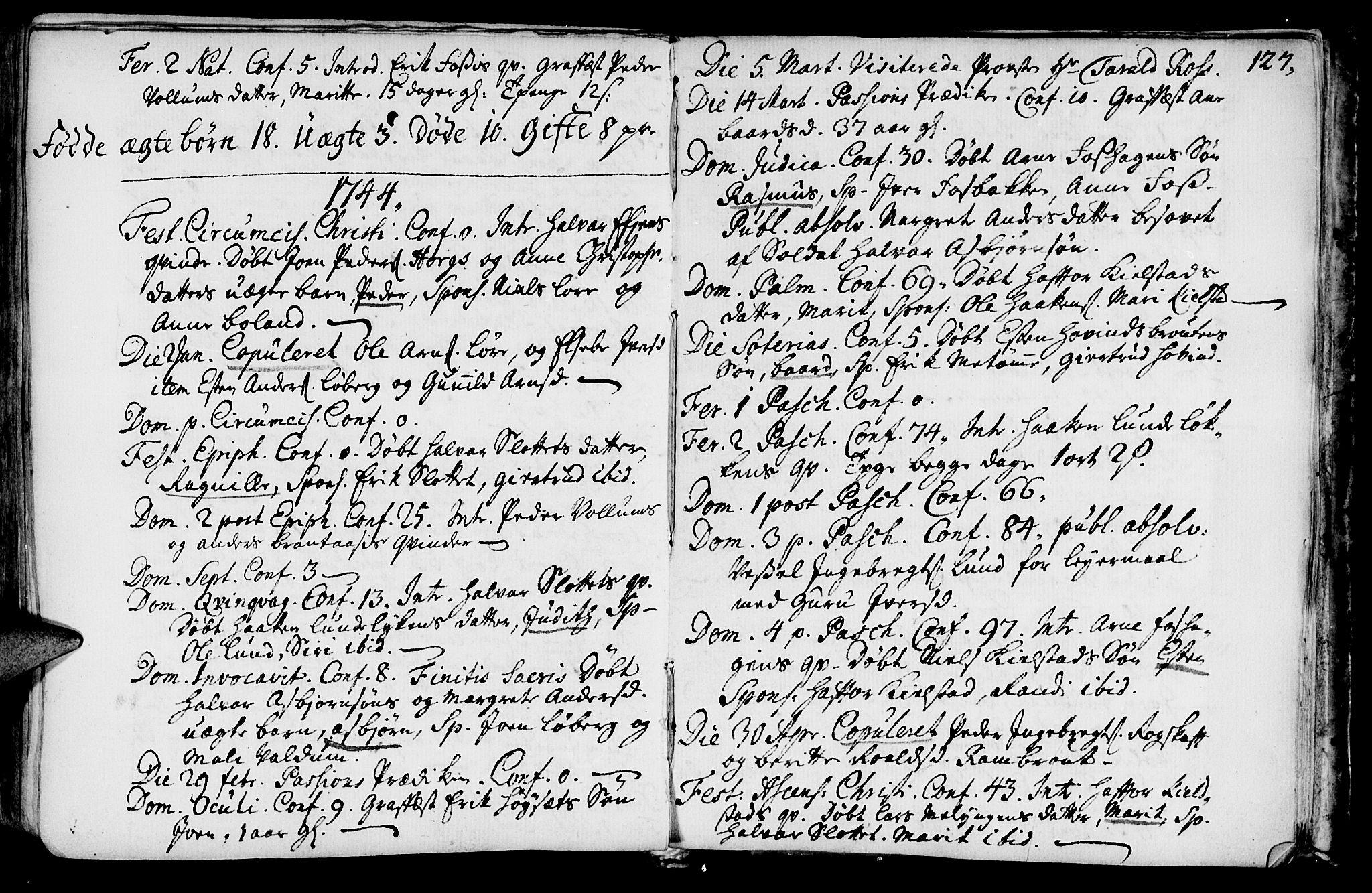 SAT, Ministerialprotokoller, klokkerbøker og fødselsregistre - Sør-Trøndelag, 692/L1101: Ministerialbok nr. 692A01, 1690-1746, s. 127
