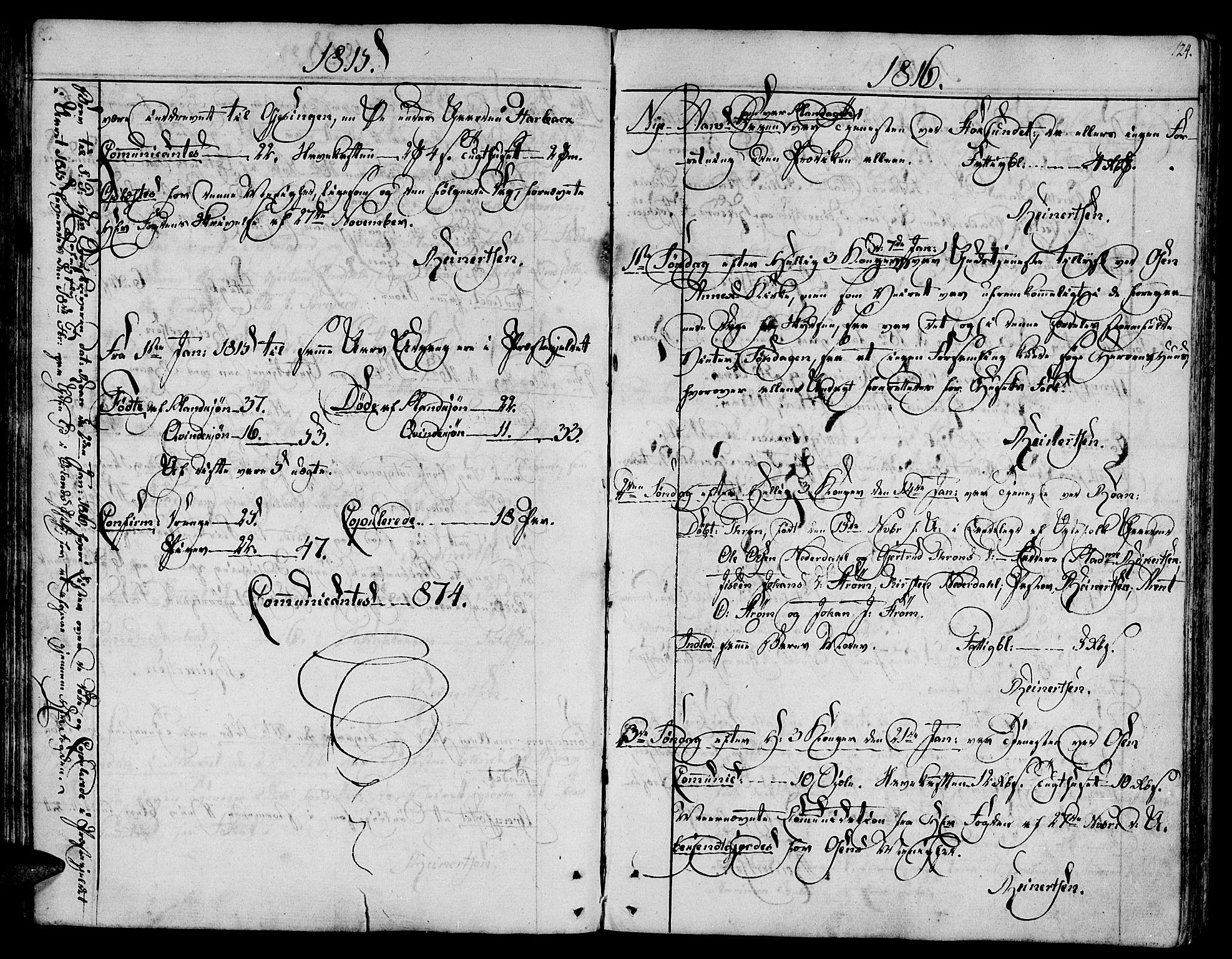 SAT, Ministerialprotokoller, klokkerbøker og fødselsregistre - Sør-Trøndelag, 657/L0701: Ministerialbok nr. 657A02, 1802-1831, s. 124