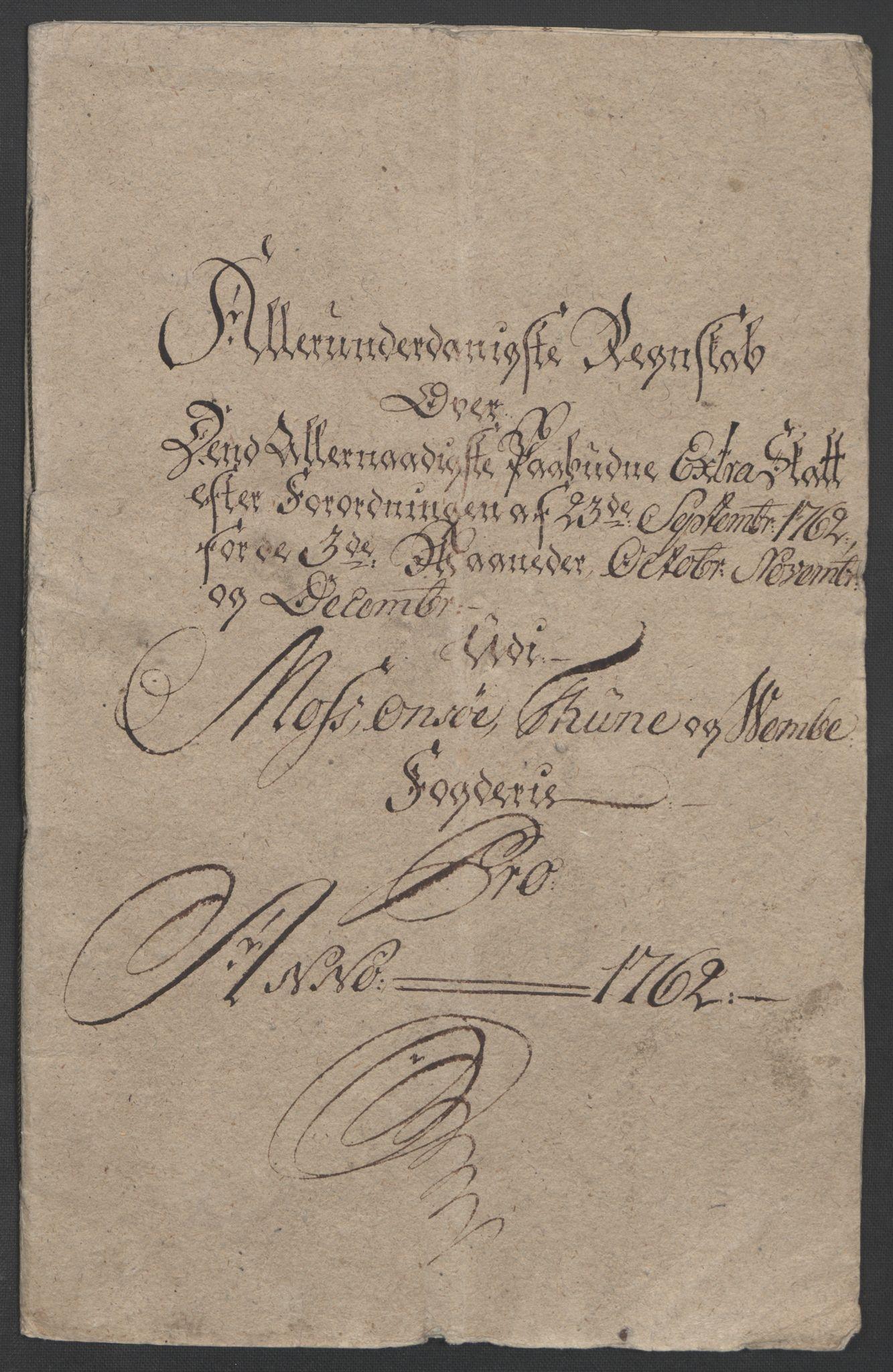 RA, Rentekammeret inntil 1814, Reviderte regnskaper, Fogderegnskap, R04/L0260: Ekstraskatten Moss, Onsøy, Tune, Veme og Åbygge, 1762, s. 6