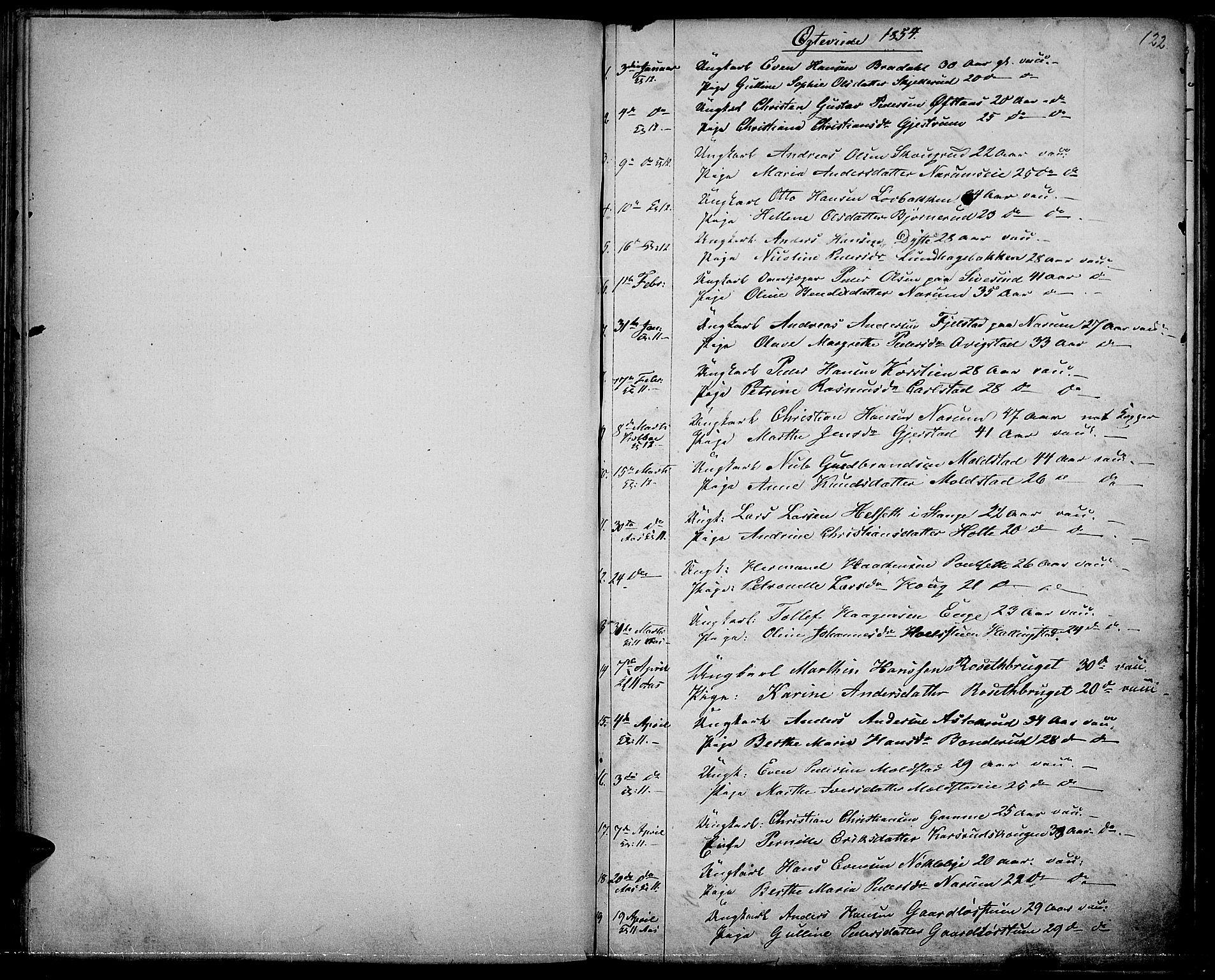 SAH, Vestre Toten prestekontor, Klokkerbok nr. 5, 1854-1870, s. 122