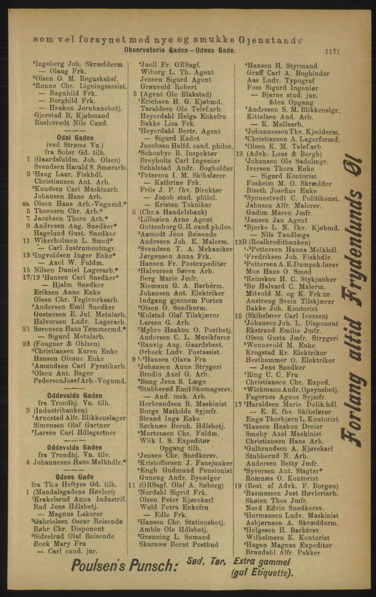 PUBL, Kristiania/Oslo adressebok, 1906, s. 1171