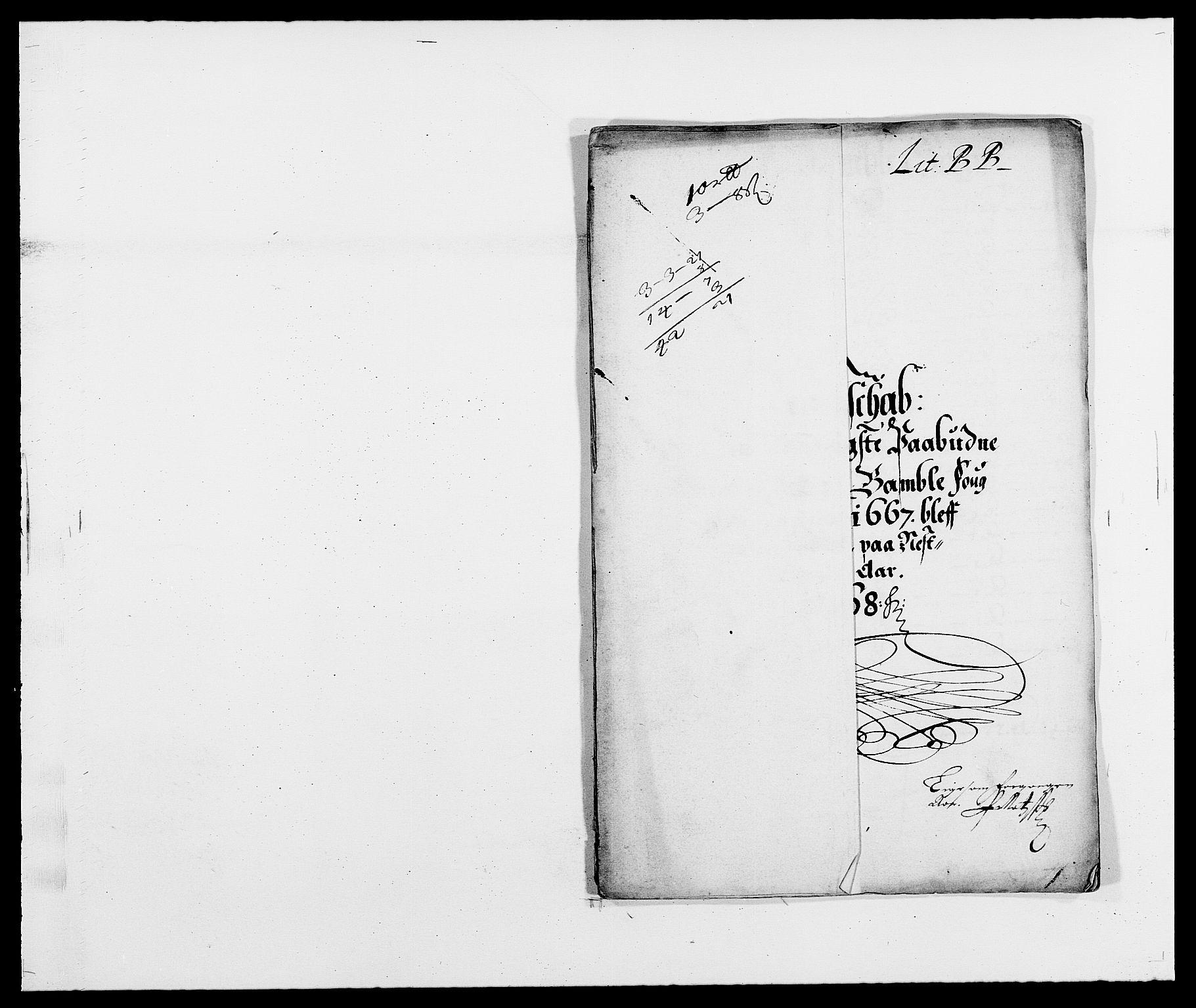 RA, Rentekammeret inntil 1814, Reviderte regnskaper, Fogderegnskap, R34/L2039: Fogderegnskap Bamble, 1662-1669, s. 236