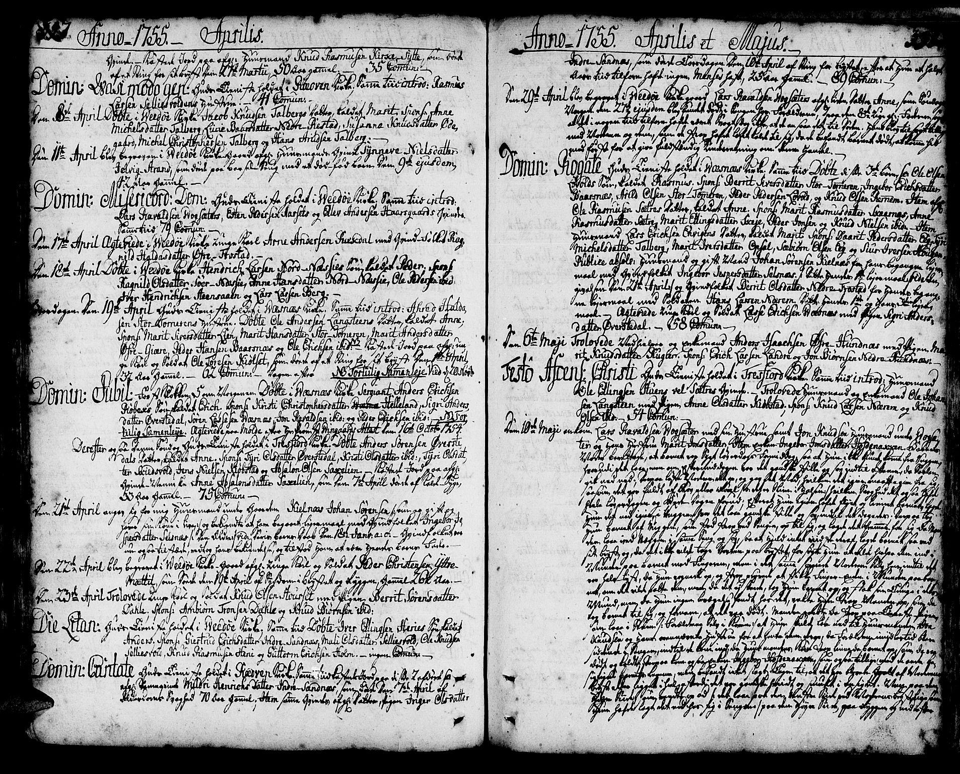 SAT, Ministerialprotokoller, klokkerbøker og fødselsregistre - Møre og Romsdal, 547/L0599: Ministerialbok nr. 547A01, 1721-1764, s. 397-398