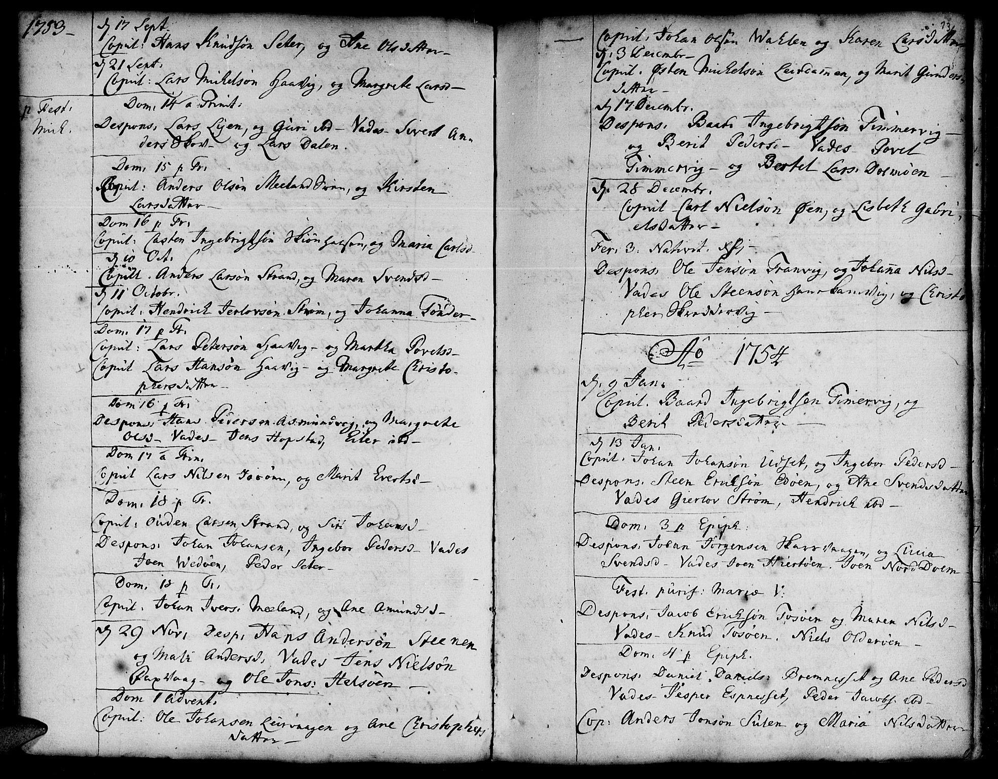 SAT, Ministerialprotokoller, klokkerbøker og fødselsregistre - Sør-Trøndelag, 634/L0525: Ministerialbok nr. 634A01, 1736-1775, s. 136