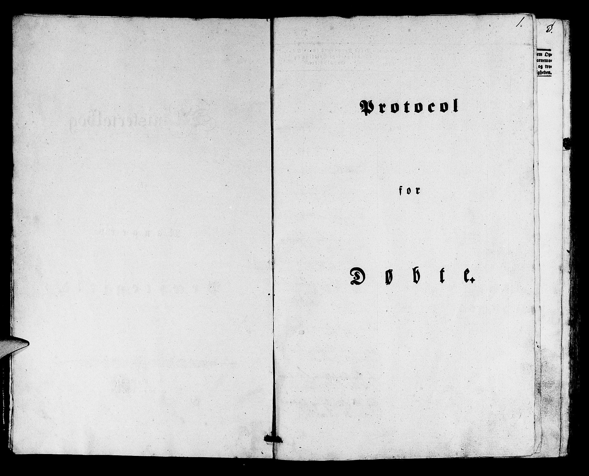 SAB, Manger sokneprestembete, H/Haa: Ministerialbok nr. A 5, 1839-1848, s. 1