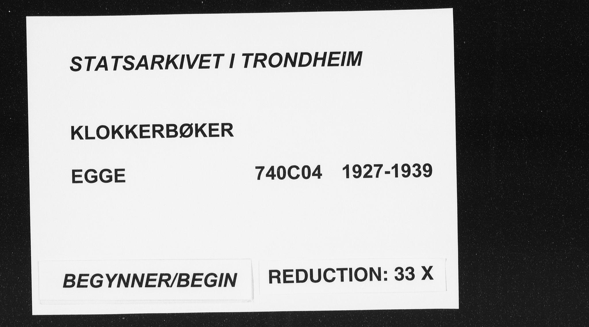 SAT, Ministerialprotokoller, klokkerbøker og fødselsregistre - Nord-Trøndelag, 740/L0383: Klokkerbok nr. 740C04, 1927-1939