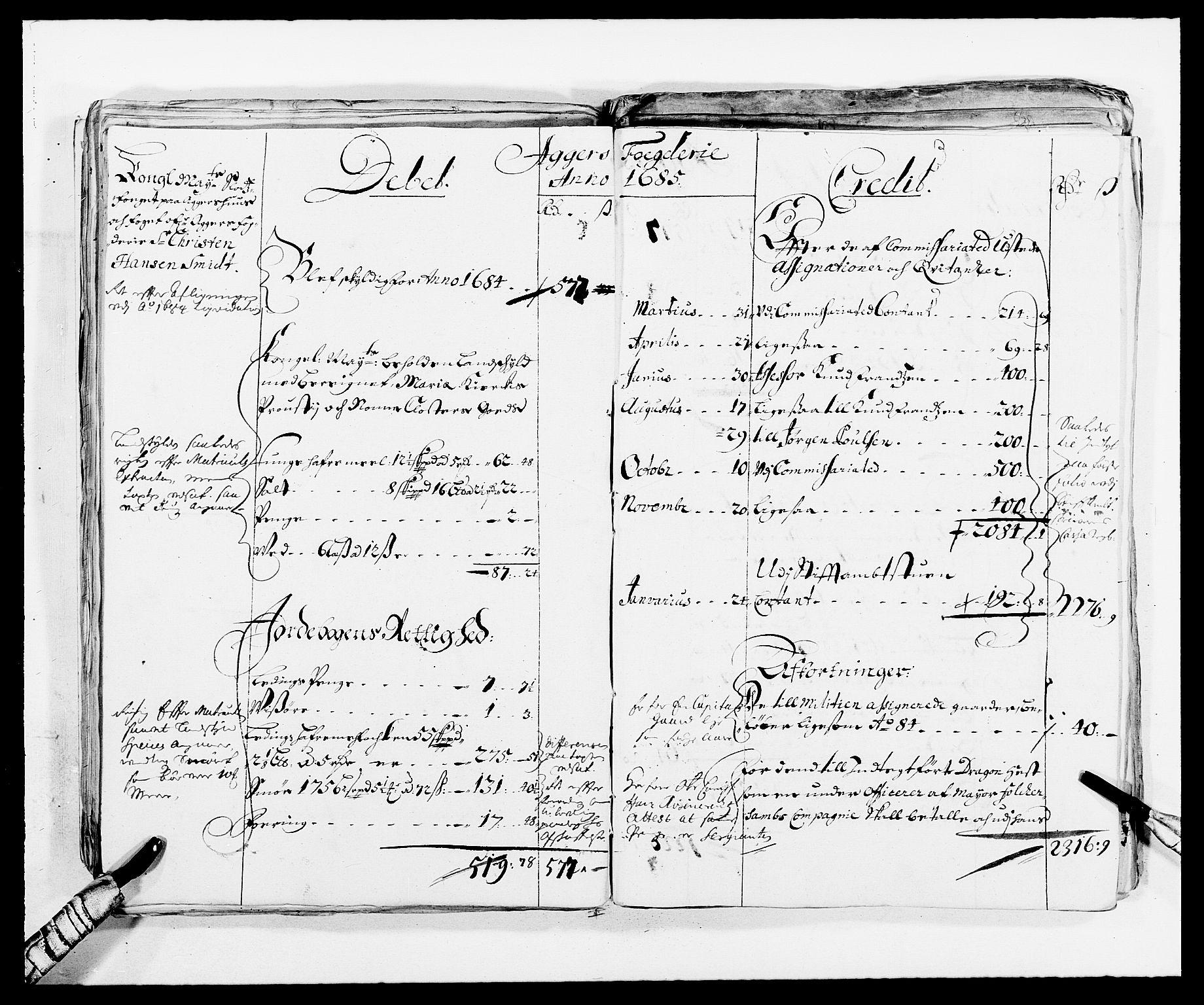 RA, Rentekammeret inntil 1814, Reviderte regnskaper, Fogderegnskap, R08/L0420: Fogderegnskap Aker, 1682-1691, s. 44