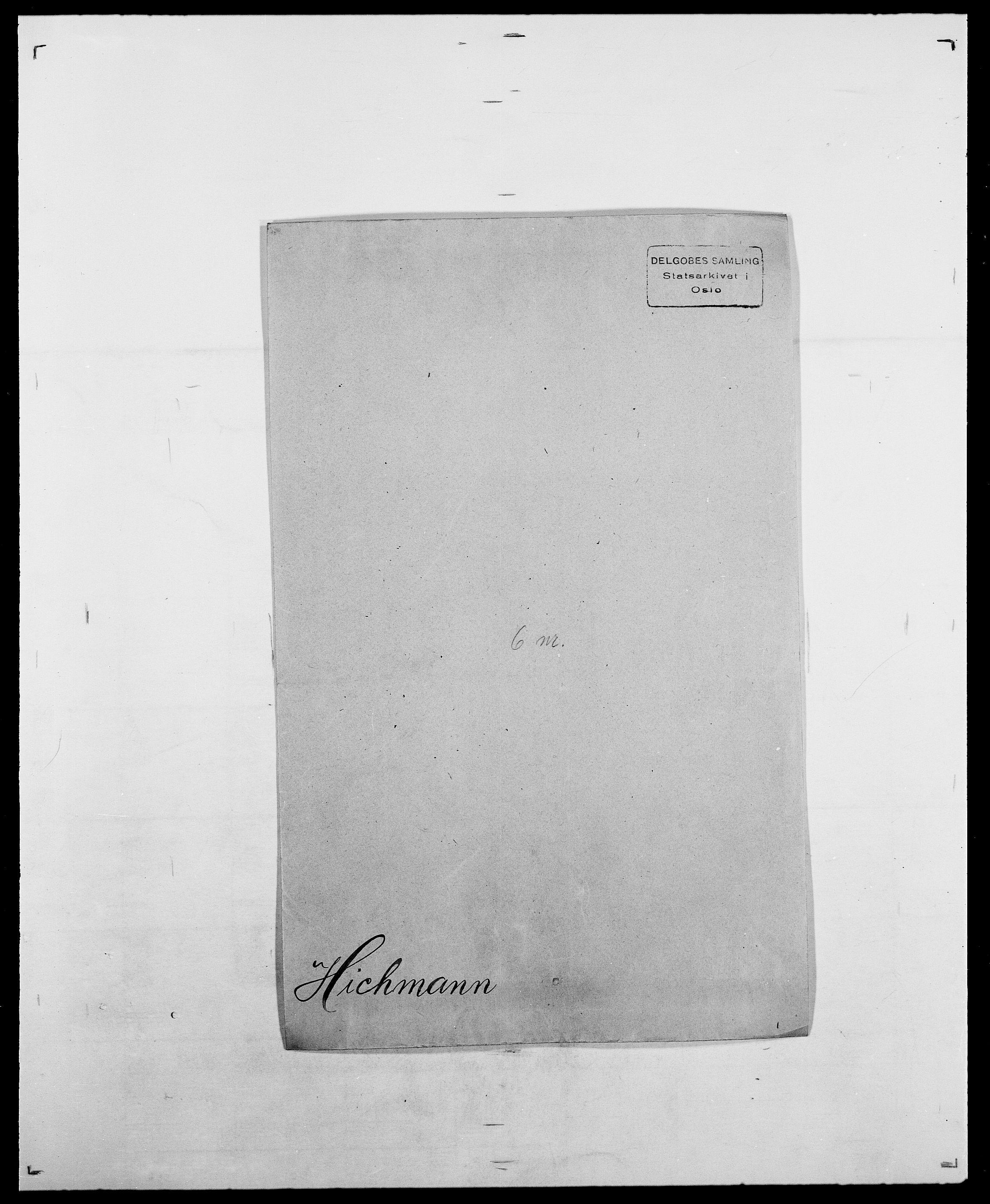 SAO, Delgobe, Charles Antoine - samling, D/Da/L0017: Helander - Hjørne, s. 397