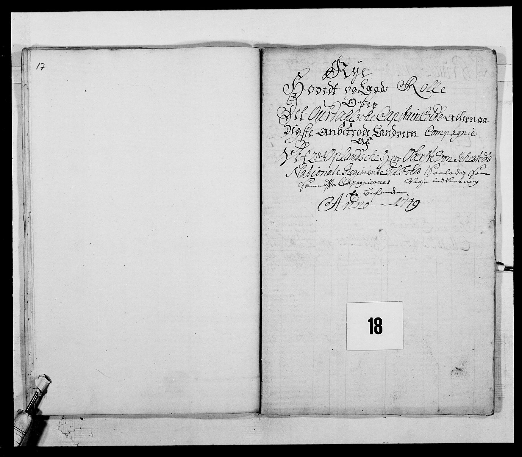 RA, Kommanderende general (KG I) med Det norske krigsdirektorium, E/Ea/L0505: 2. Opplandske regiment, 1748, s. 509
