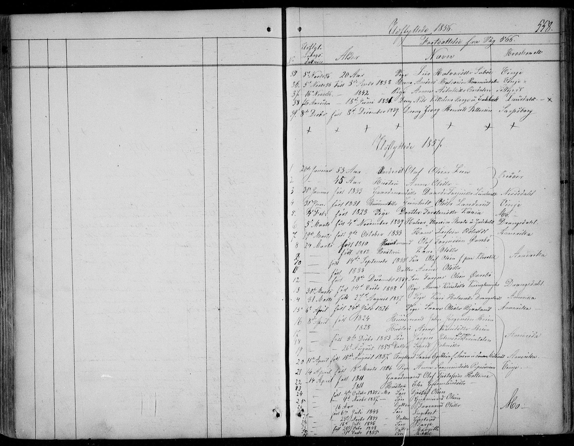 SAKO, Kviteseid kirkebøker, F/Fa/L0006: Ministerialbok nr. I 6, 1836-1858, s. 558