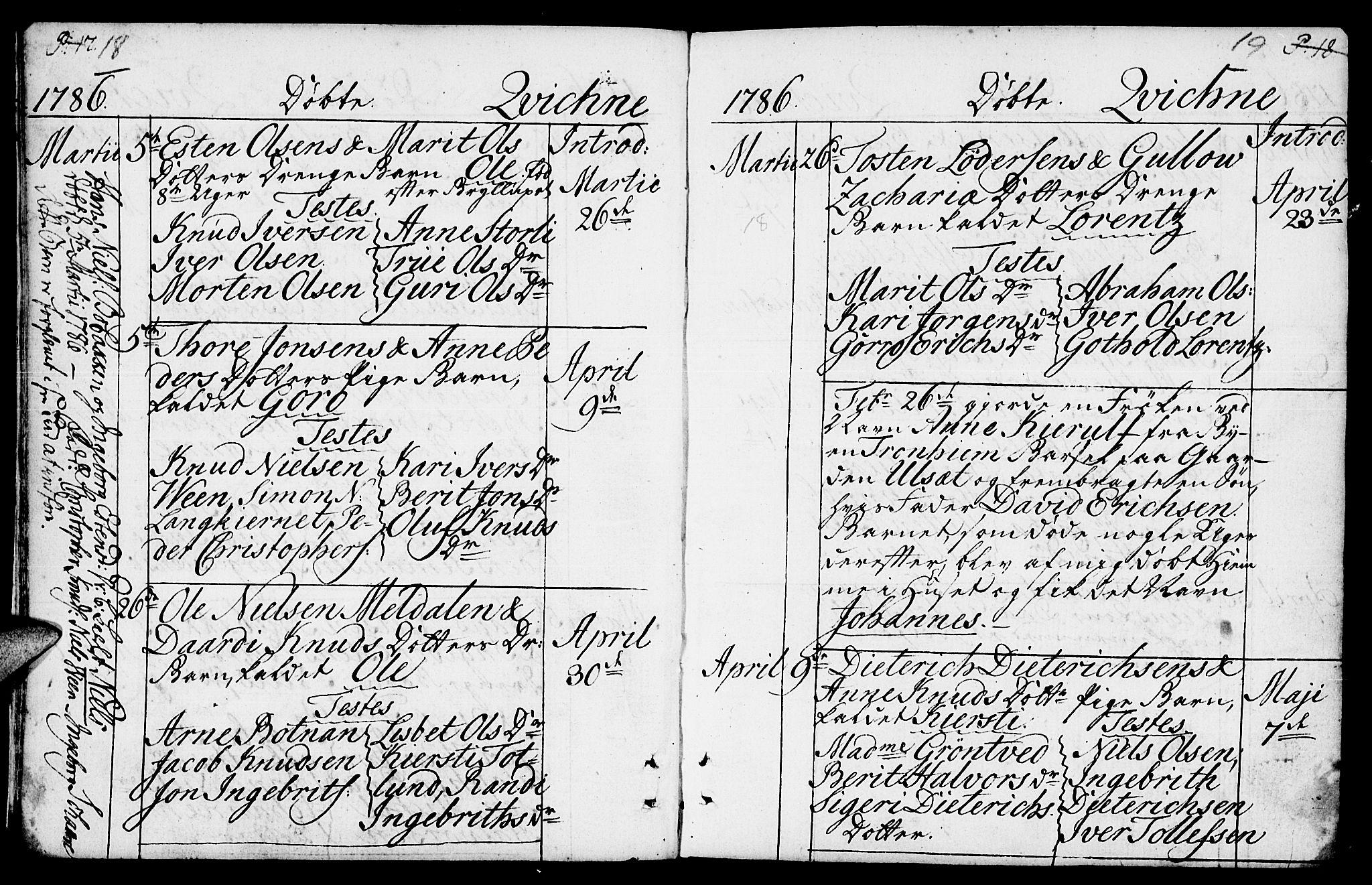SAH, Kvikne prestekontor, Ministerialbok nr. 3, 1785-1814, s. 18-19