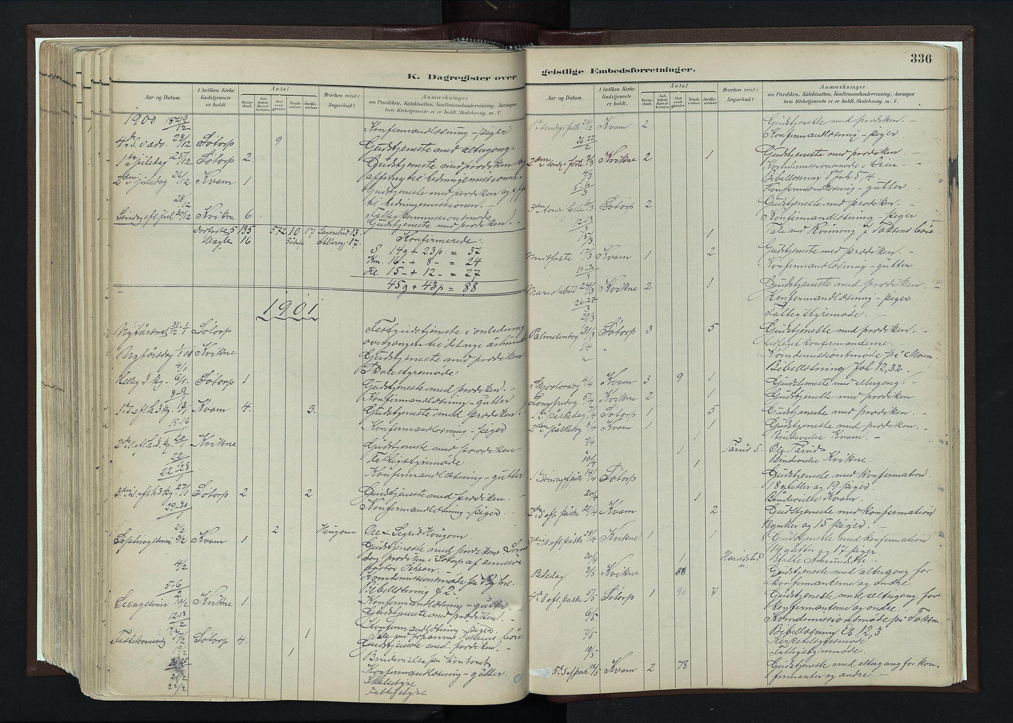SAH, Nord-Fron prestekontor, Ministerialbok nr. 4, 1884-1914, s. 336