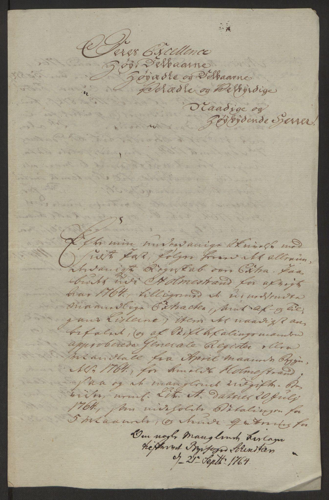 RA, Rentekammeret inntil 1814, Reviderte regnskaper, Byregnskaper, R/Rh/L0163: [H4] Kontribusjonsregnskap, 1762-1772, s. 119