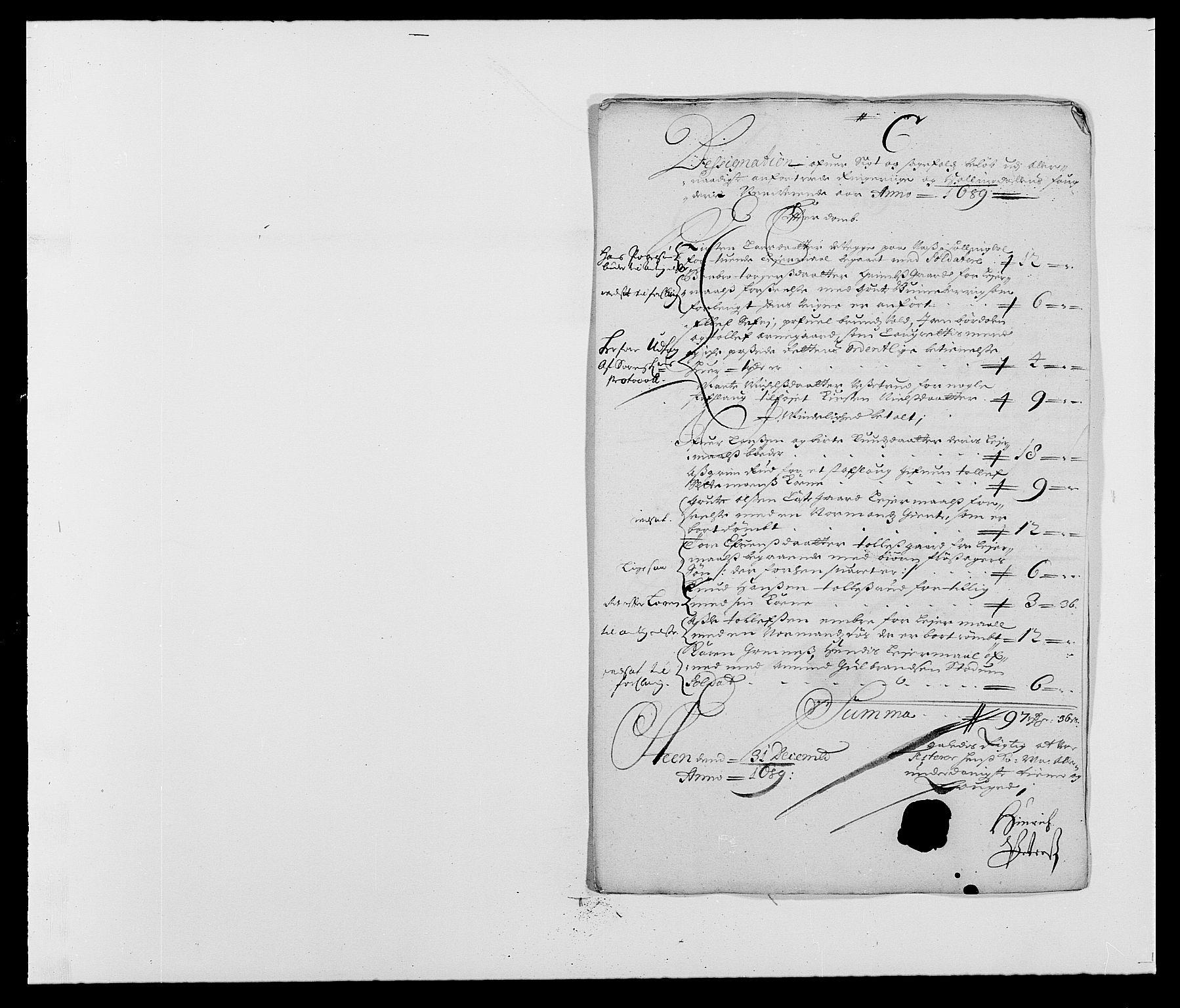 RA, Rentekammeret inntil 1814, Reviderte regnskaper, Fogderegnskap, R21/L1447: Fogderegnskap Ringerike og Hallingdal, 1687-1689, s. 300