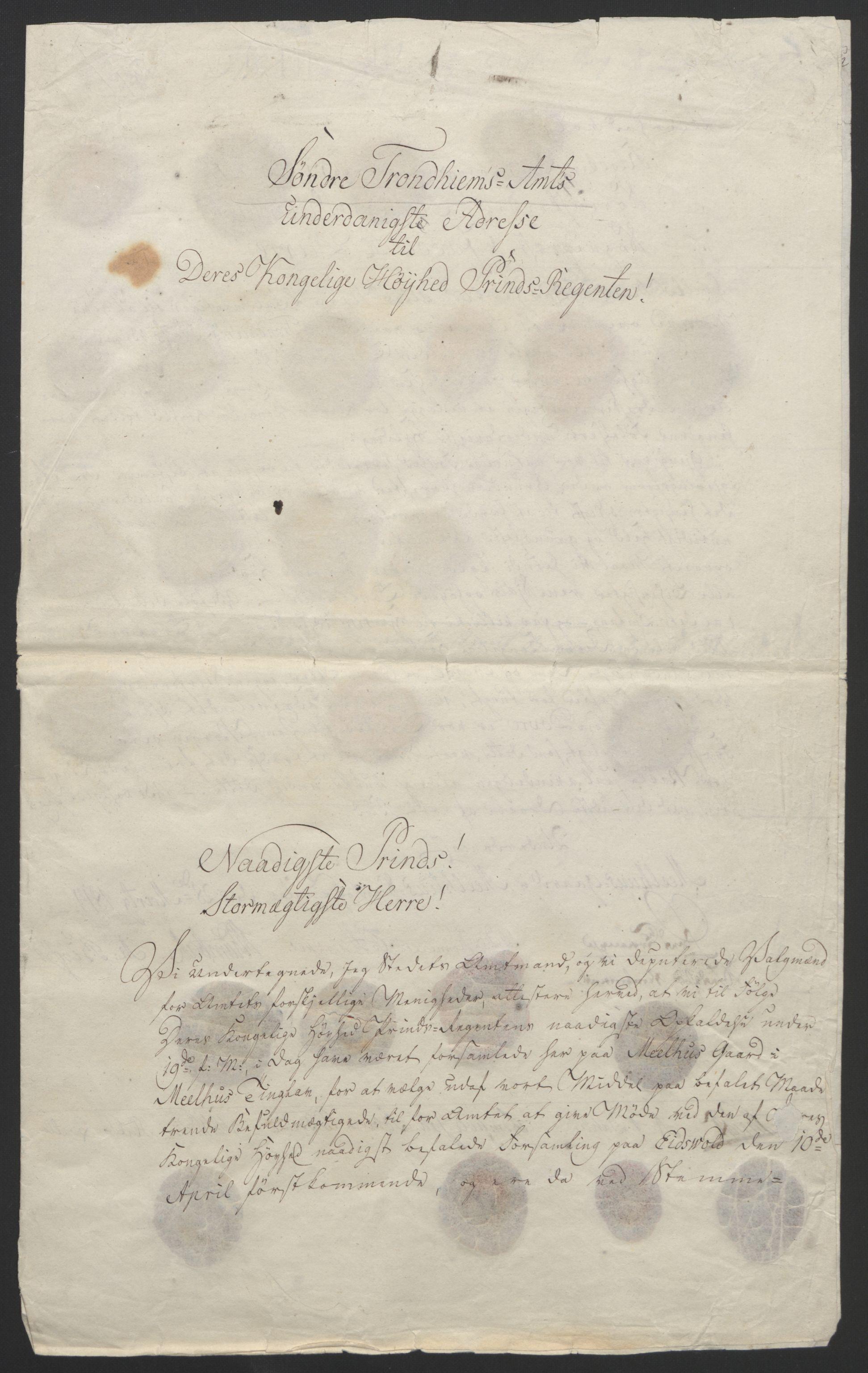 RA, Statsrådssekretariatet, D/Db/L0008: Fullmakter for Eidsvollsrepresentantene i 1814. , 1814, s. 427