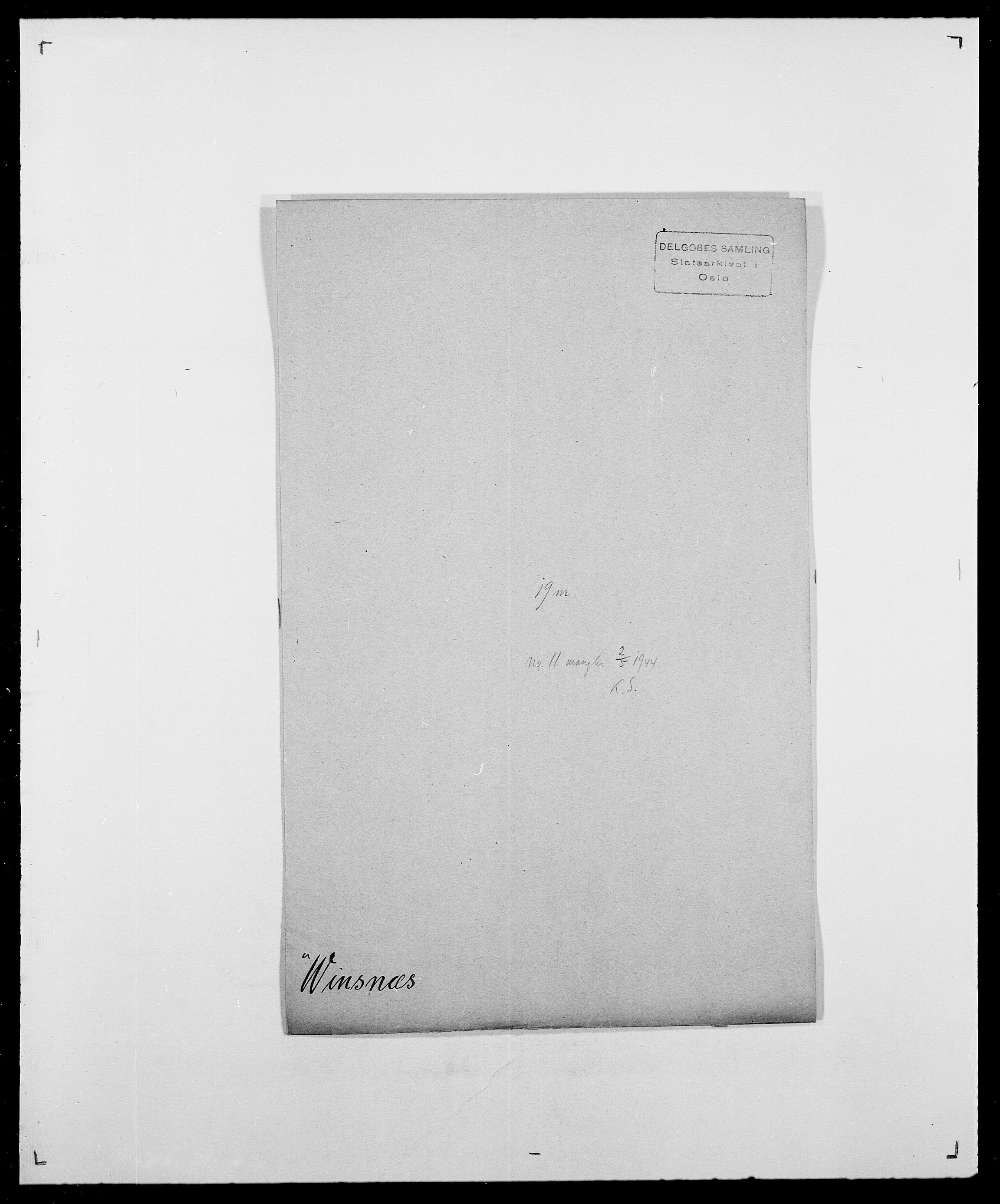 SAO, Delgobe, Charles Antoine - samling, D/Da/L0042: Vilain - Wulf, Wulff, se også Wolf, s. 270