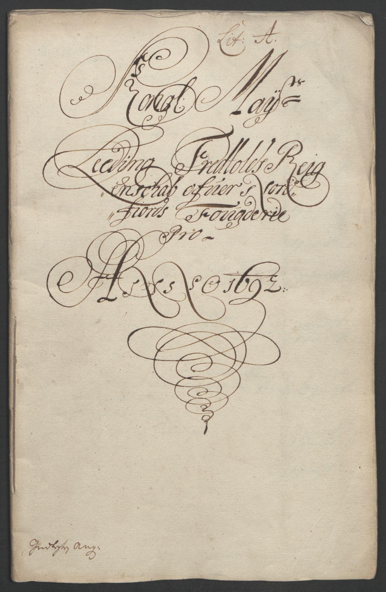 RA, Rentekammeret inntil 1814, Reviderte regnskaper, Fogderegnskap, R53/L3420: Fogderegnskap Sunn- og Nordfjord, 1691-1692, s. 290