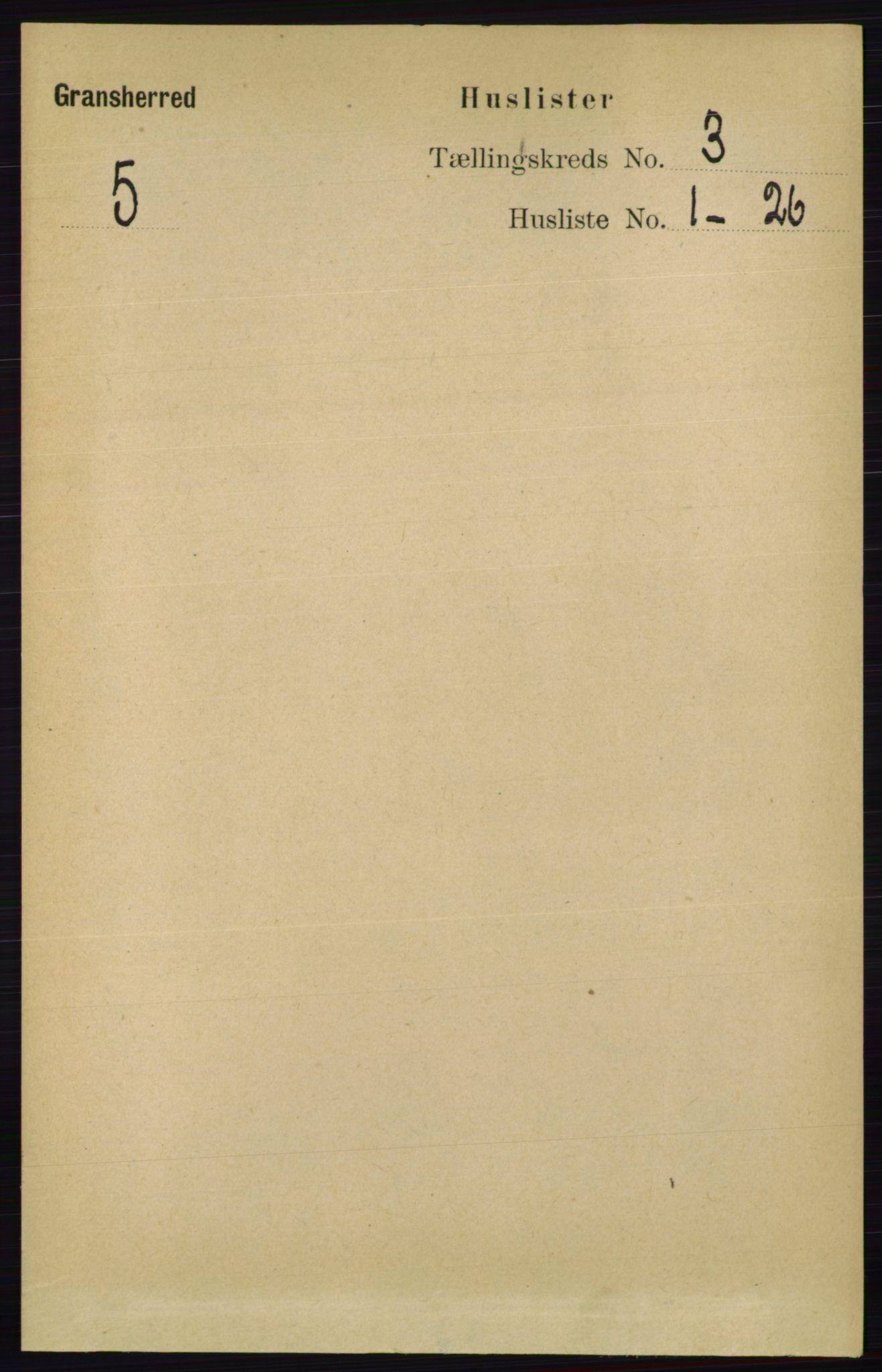 RA, Folketelling 1891 for 0824 Gransherad herred, 1891, s. 482
