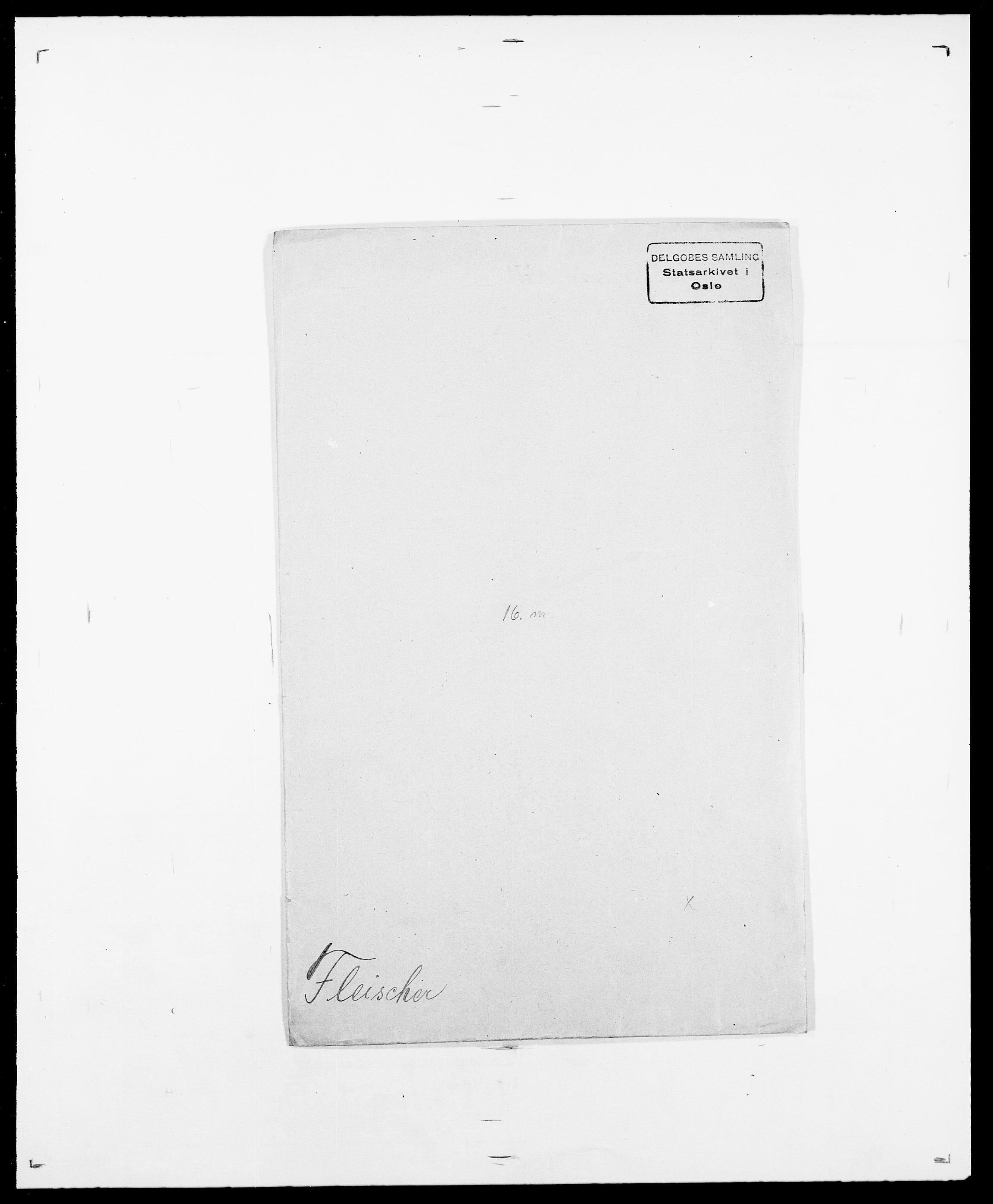 SAO, Delgobe, Charles Antoine - samling, D/Da/L0011: Fahlander - Flood, Flod, s. 585