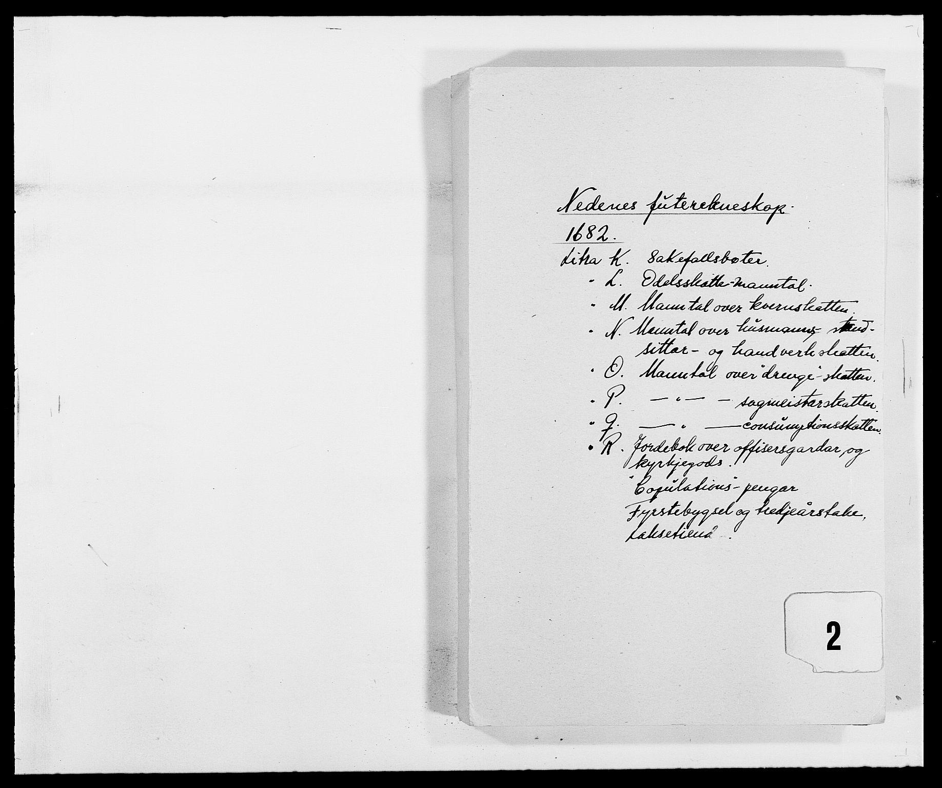 RA, Rentekammeret inntil 1814, Reviderte regnskaper, Fogderegnskap, R39/L2304: Fogderegnskap Nedenes, 1680-1682, s. 299