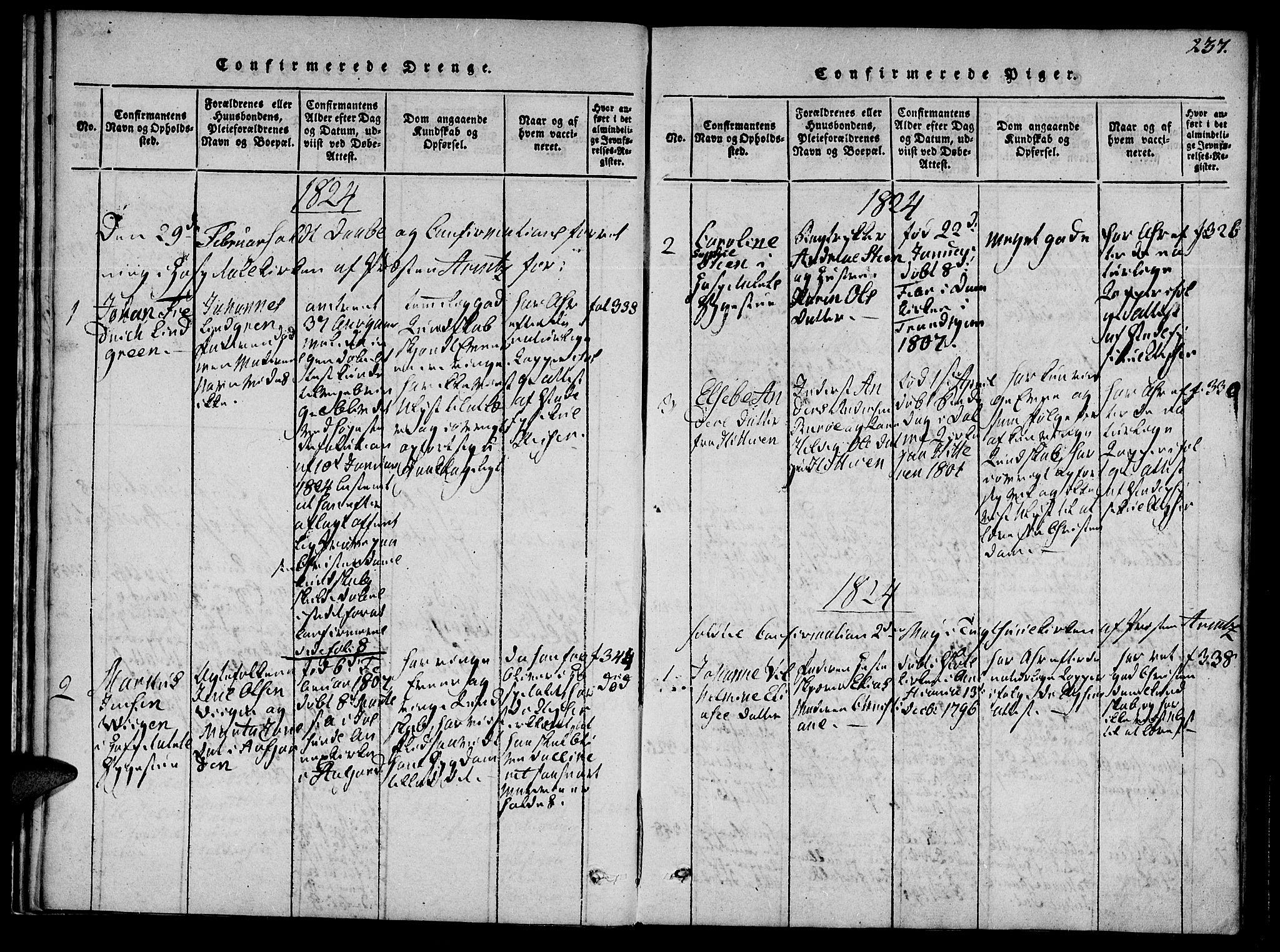 SAT, Ministerialprotokoller, klokkerbøker og fødselsregistre - Sør-Trøndelag, 623/L0467: Ministerialbok nr. 623A01, 1815-1825, s. 237