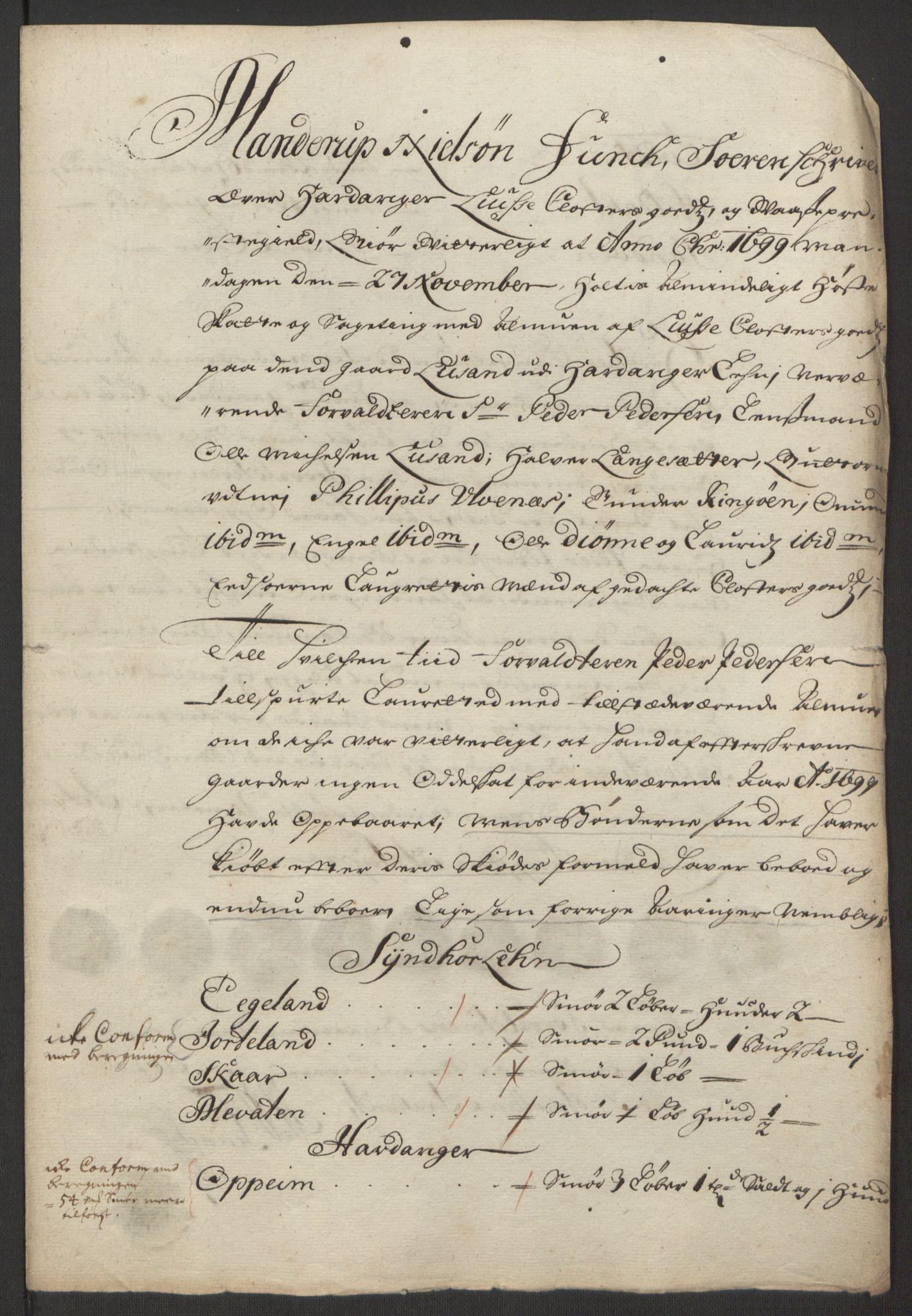 RA, Rentekammeret inntil 1814, Reviderte regnskaper, Fogderegnskap, R50/L3159: Fogderegnskap Lyse kloster, 1691-1709, s. 105