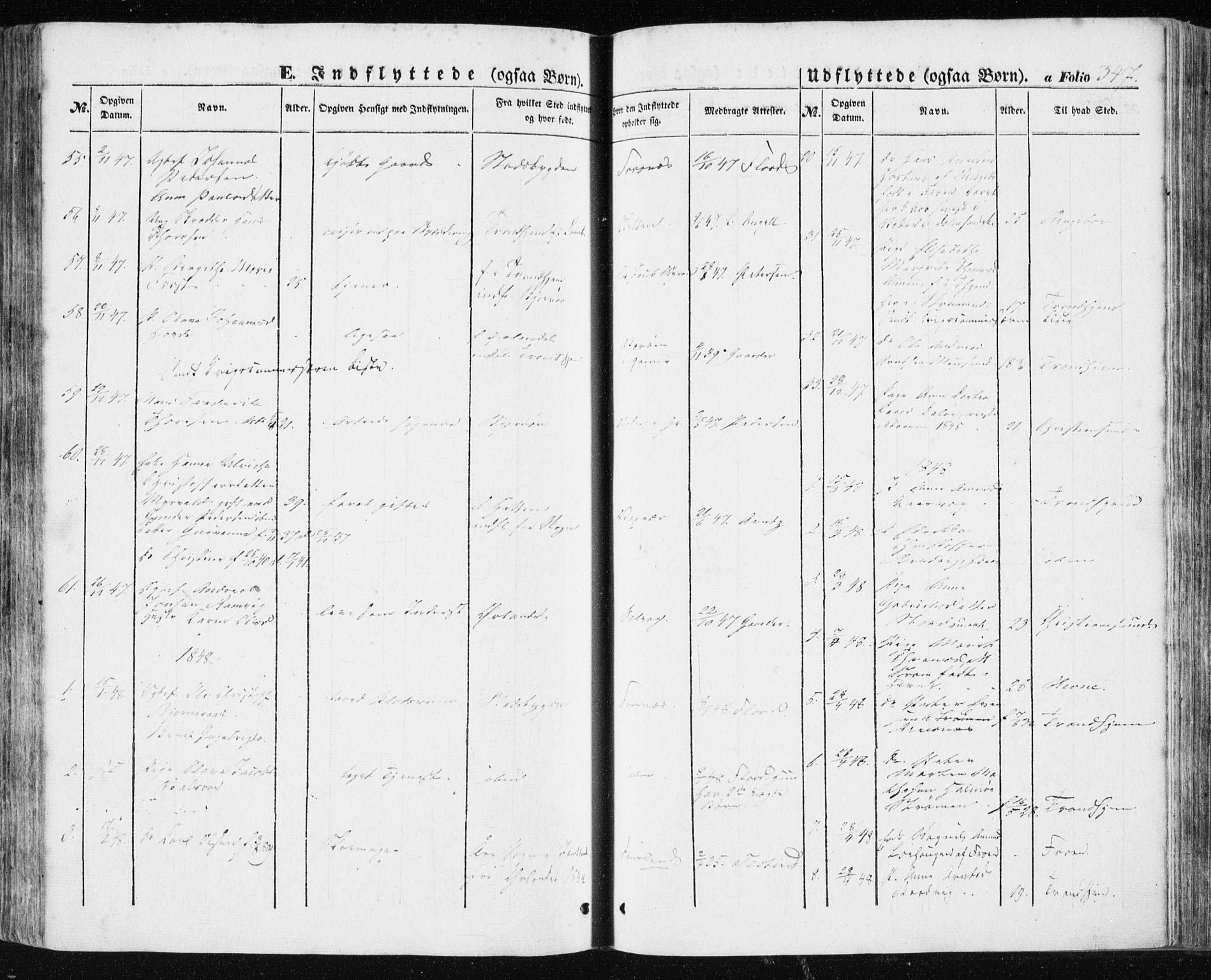 SAT, Ministerialprotokoller, klokkerbøker og fødselsregistre - Sør-Trøndelag, 634/L0529: Ministerialbok nr. 634A05, 1843-1851, s. 347