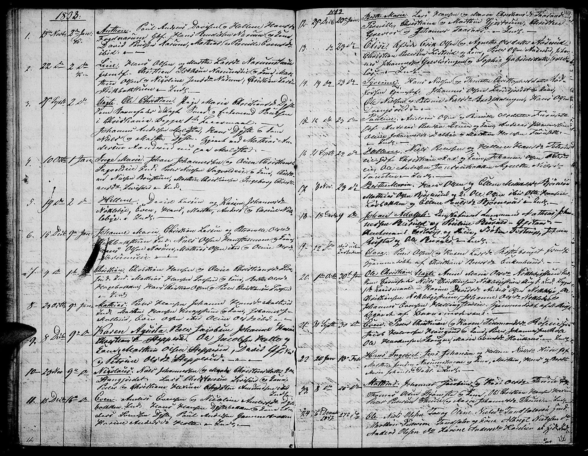 SAH, Vestre Toten prestekontor, Klokkerbok nr. 4, 1851-1853, s. 16
