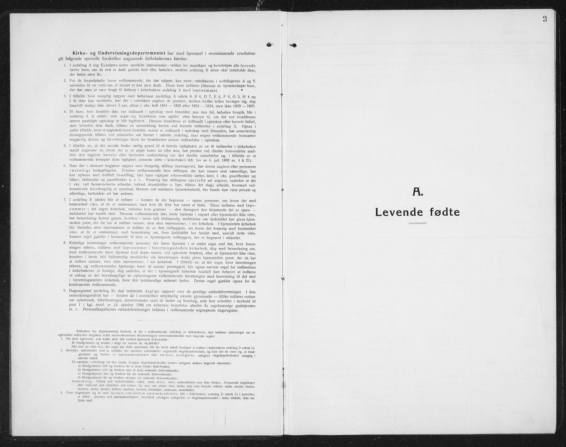 SAT, Ministerialprotokoller, klokkerbøker og fødselsregistre - Sør-Trøndelag, 675/L0888: Klokkerbok nr. 675C01, 1913-1935, s. 3