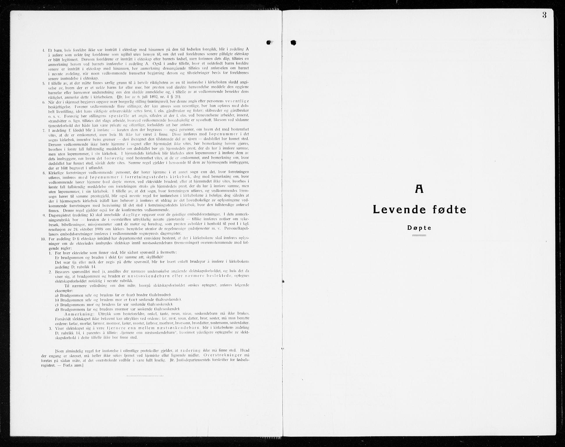 SAKO, Eidanger kirkebøker, G/Ga/L0005: Klokkerbok nr. 5, 1928-1942, s. 3