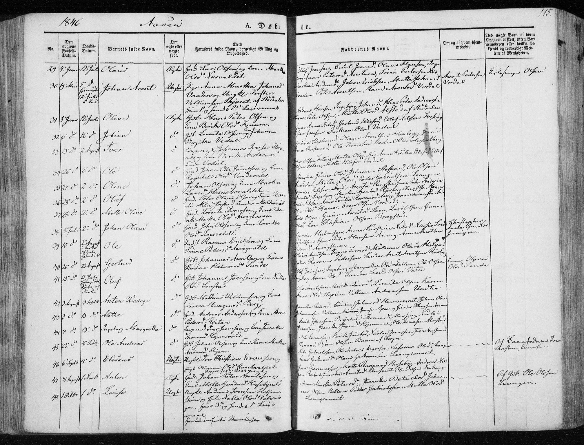 SAT, Ministerialprotokoller, klokkerbøker og fødselsregistre - Nord-Trøndelag, 713/L0115: Ministerialbok nr. 713A06, 1838-1851, s. 115