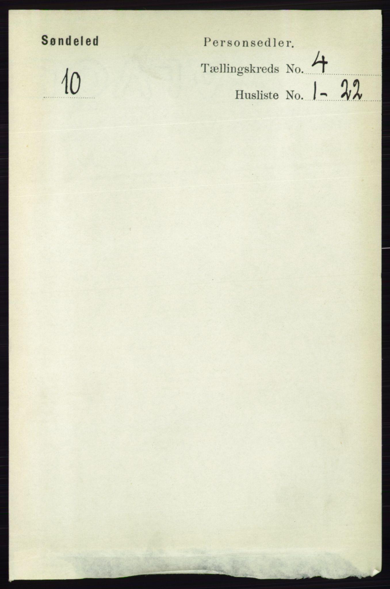 RA, Folketelling 1891 for 0913 Søndeled herred, 1891, s. 876
