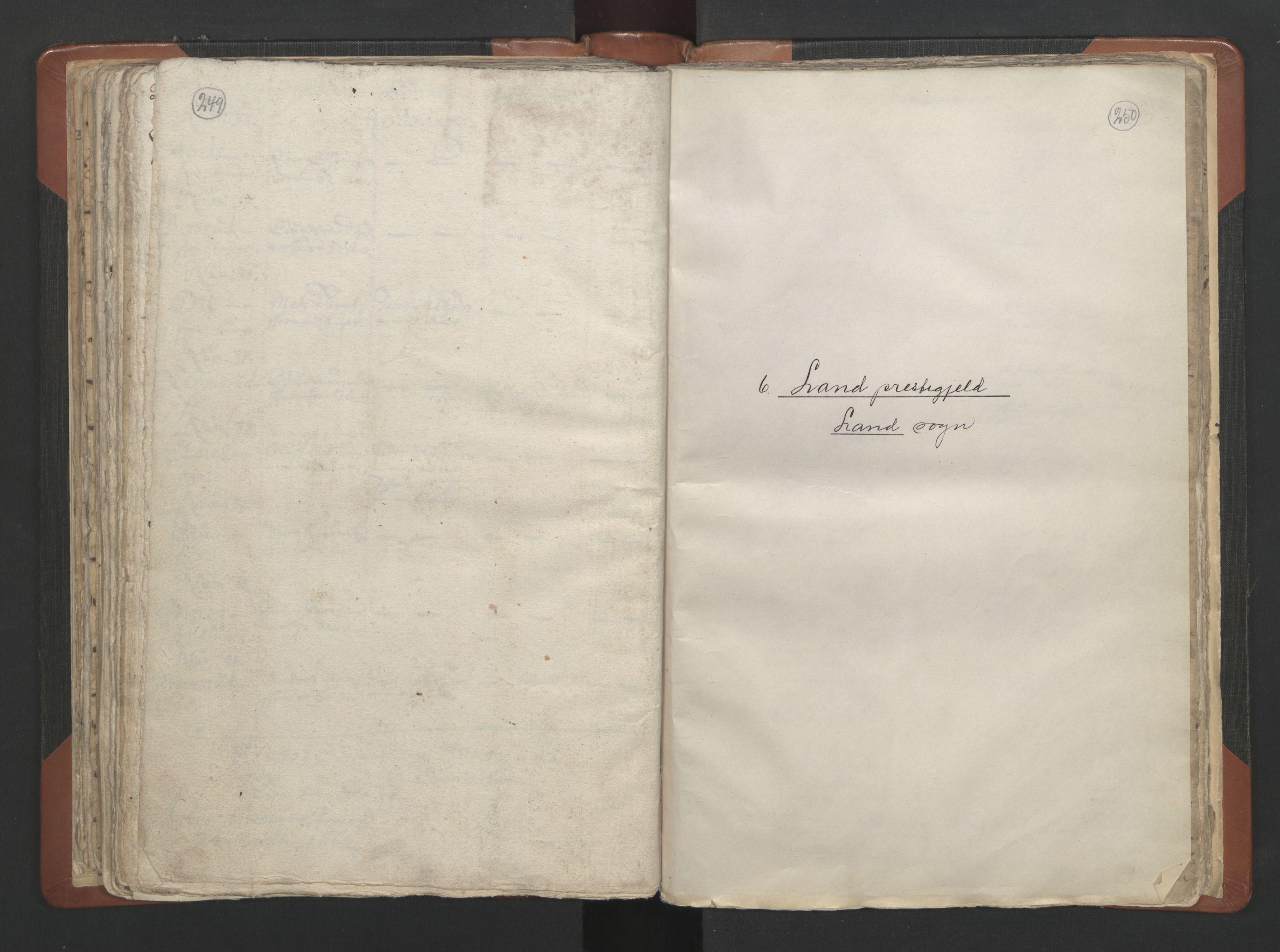 RA, Sogneprestenes manntall 1664-1666, nr. 7: Hadeland prosti, 1664-1666, s. 249-250