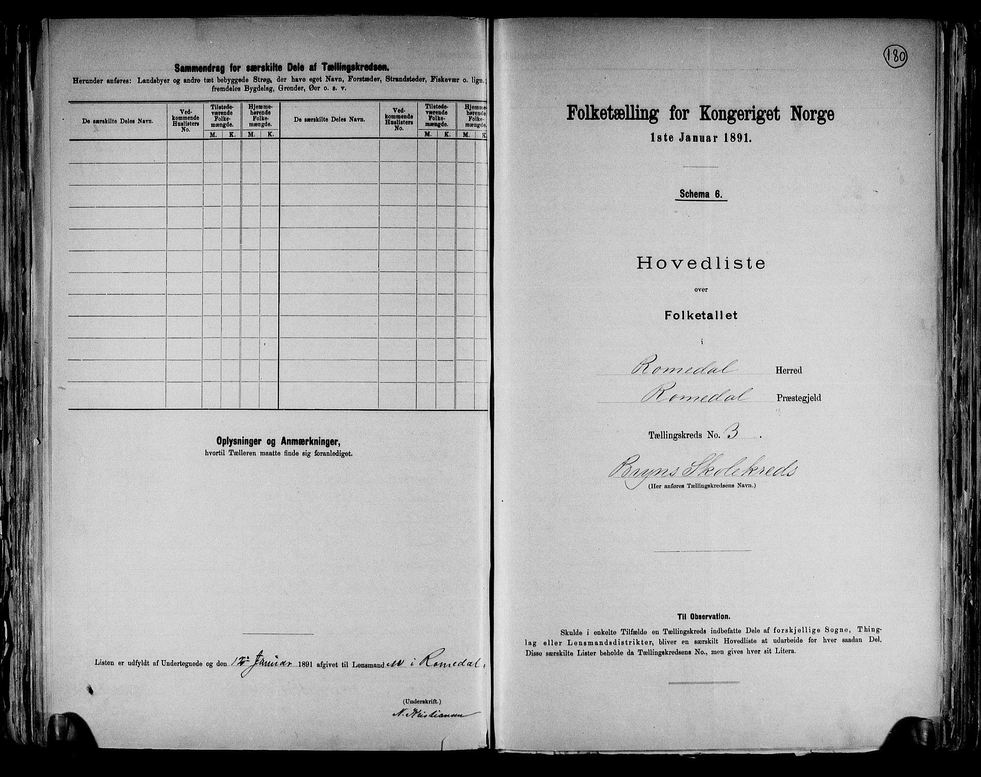 RA, Folketelling 1891 for 0416 Romedal herred, 1891, s. 9