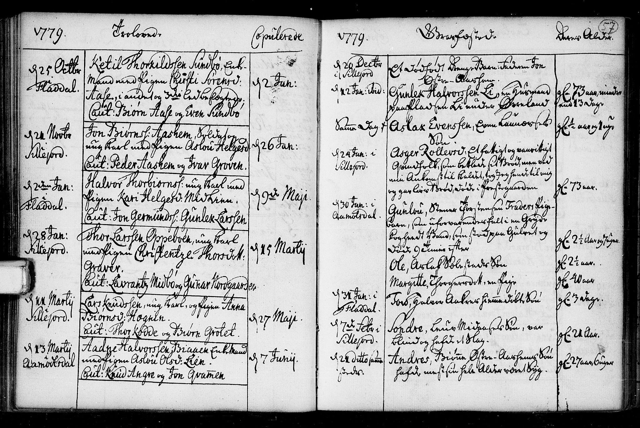 SAKO, Seljord kirkebøker, F/Fa/L0008: Ministerialbok nr. I 8, 1755-1814, s. 57