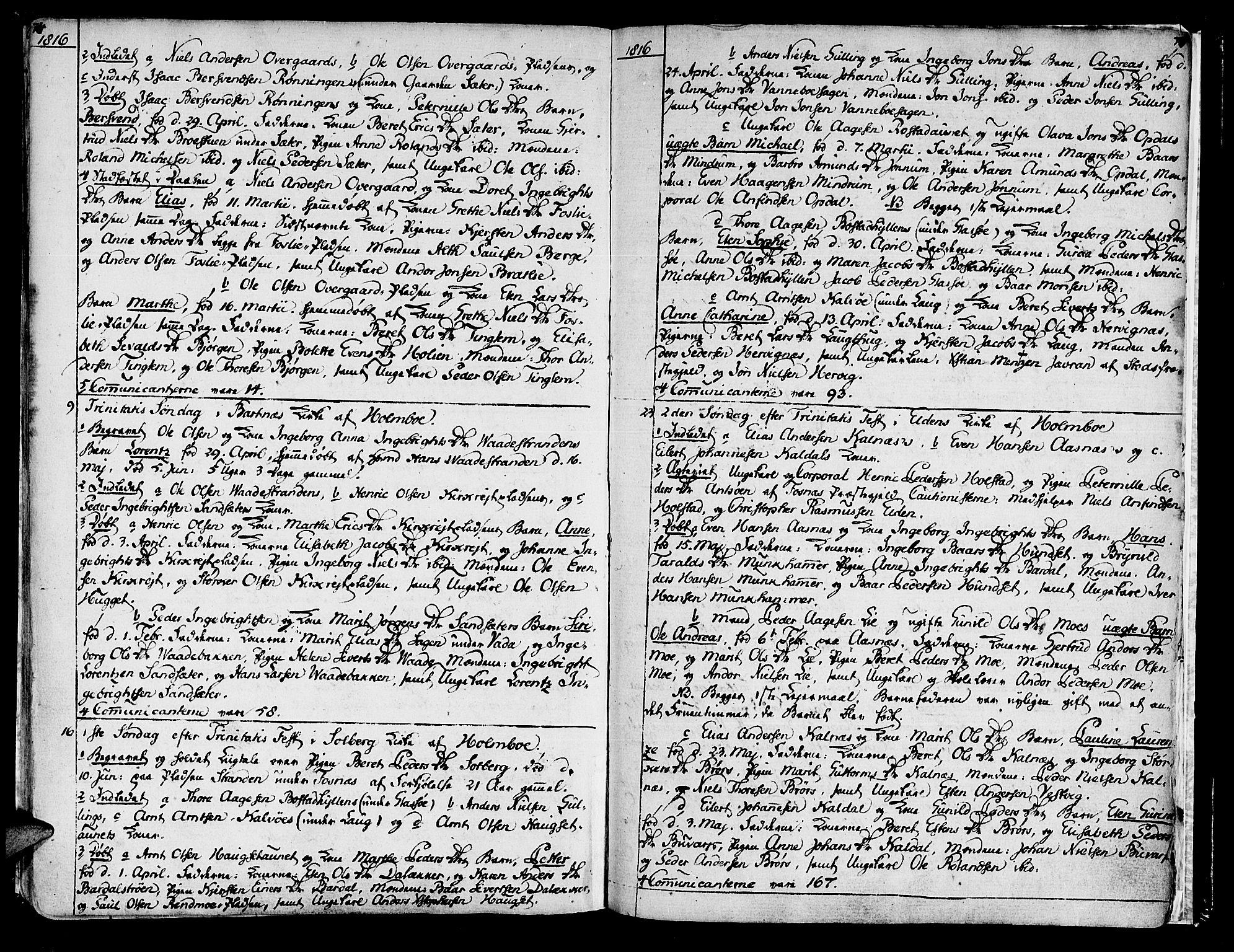 SAT, Ministerialprotokoller, klokkerbøker og fødselsregistre - Nord-Trøndelag, 741/L0386: Ministerialbok nr. 741A02, 1804-1816, s. 74-75