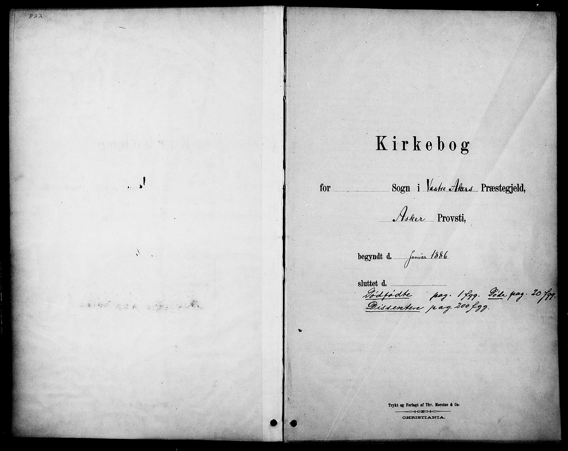 SAO, Vestre Aker prestekontor Kirkebøker, F/Fa/L0011: Ministerialbok nr. 11, 1886-1904