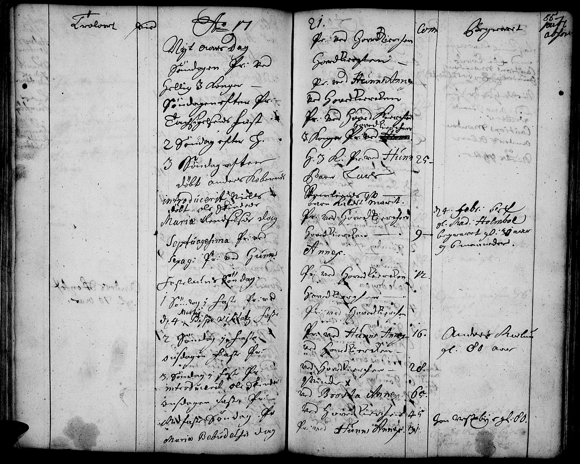 SAH, Vardal prestekontor, H/Ha/Haa/L0001: Ministerialbok nr. 1, 1706-1748, s. 85