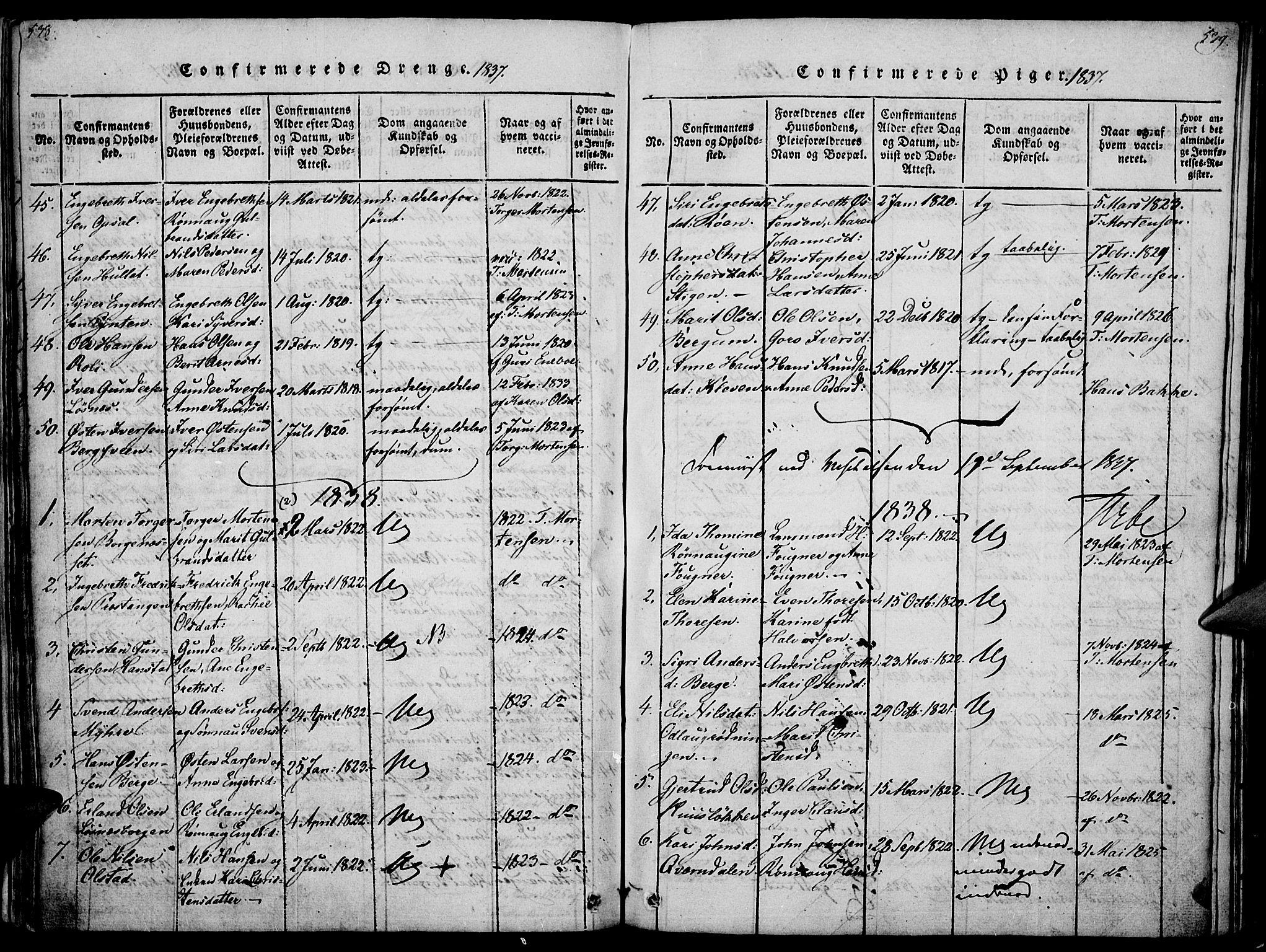 SAH, Ringebu prestekontor, Ministerialbok nr. 4, 1821-1839, s. 538-539