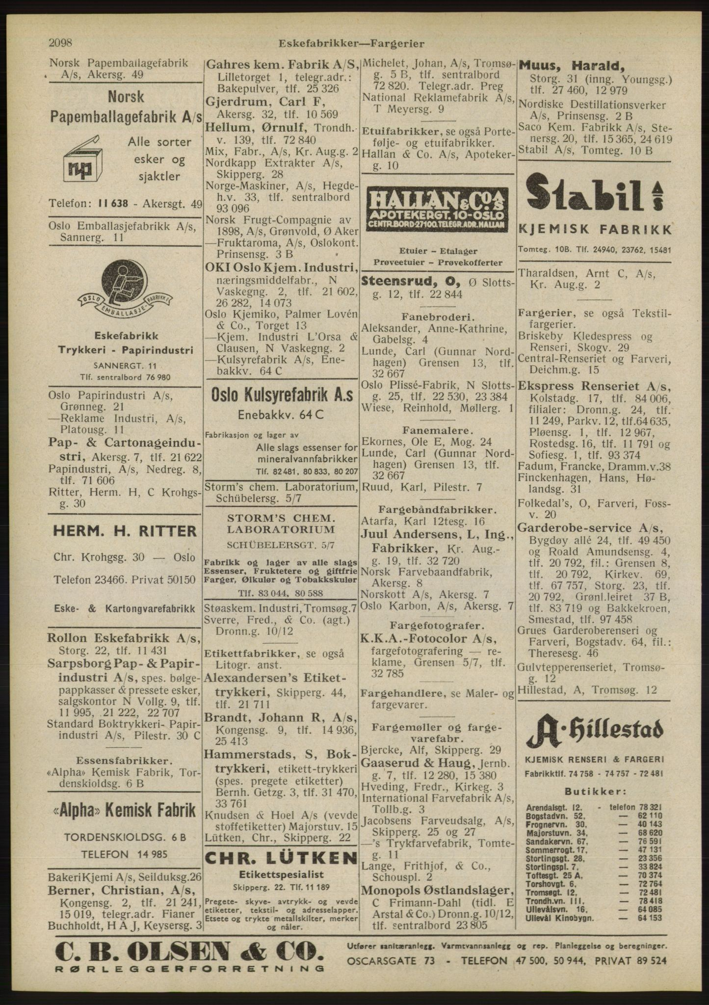 RA, Oslo adressebok (publikasjon)*, 1946, s. 2098