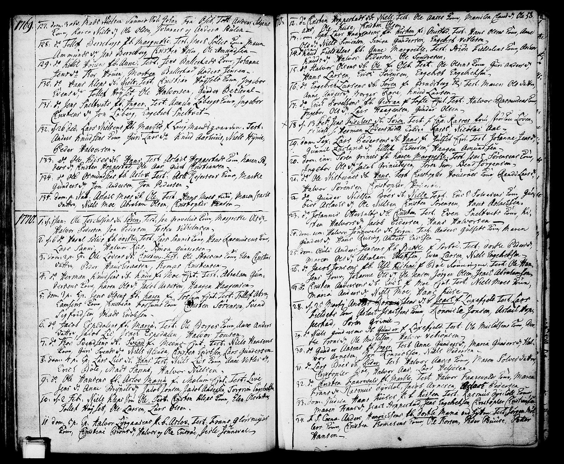 SAKO, Gjerpen kirkebøker, F/Fa/L0002: Ministerialbok nr. 2, 1747-1795, s. 58