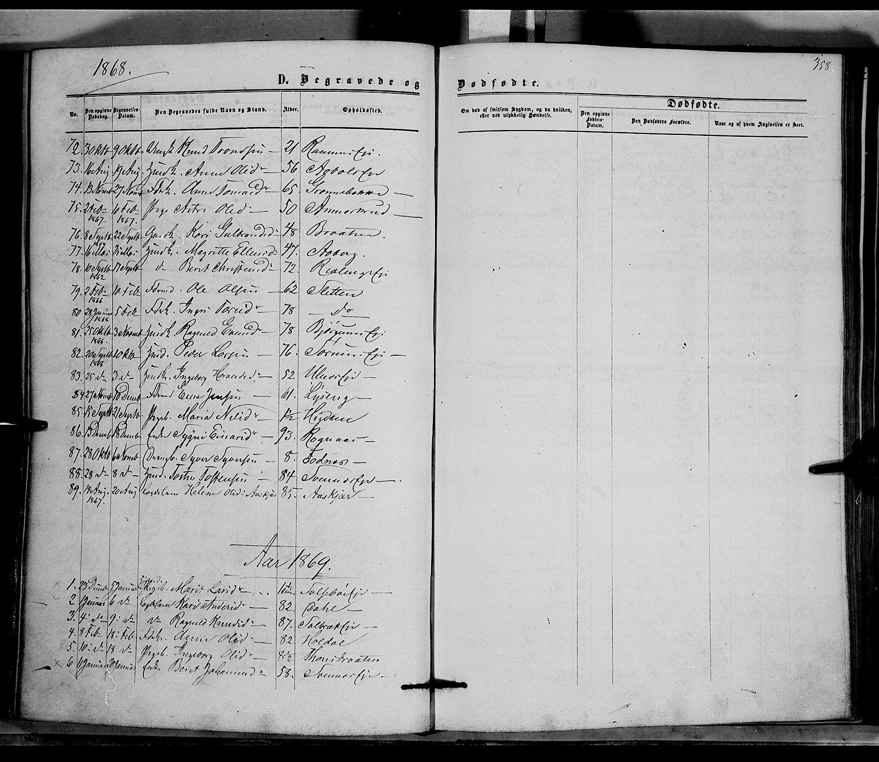 SAH, Nord-Aurdal prestekontor, Ministerialbok nr. 8, 1863-1875, s. 358